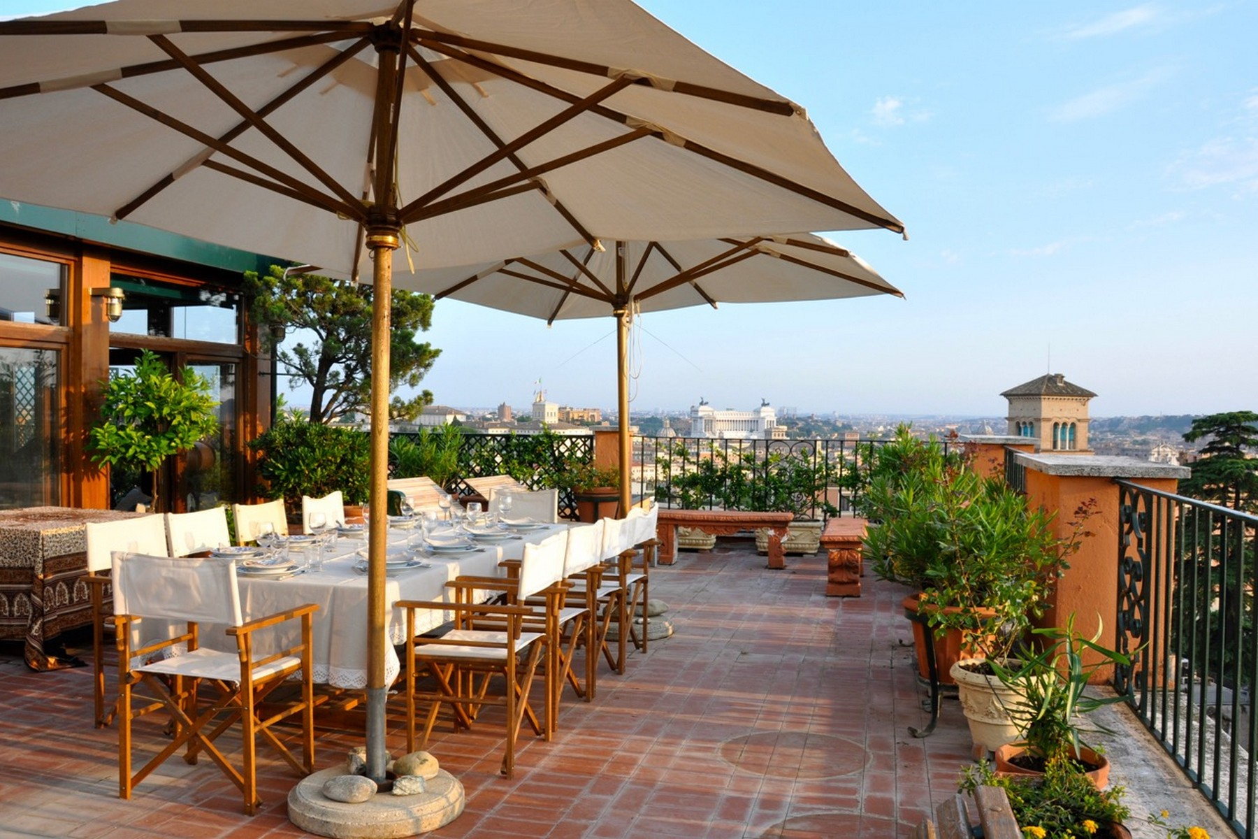 Apartment for Rent at Stunning penthouse with panoramic view Rome, Italy