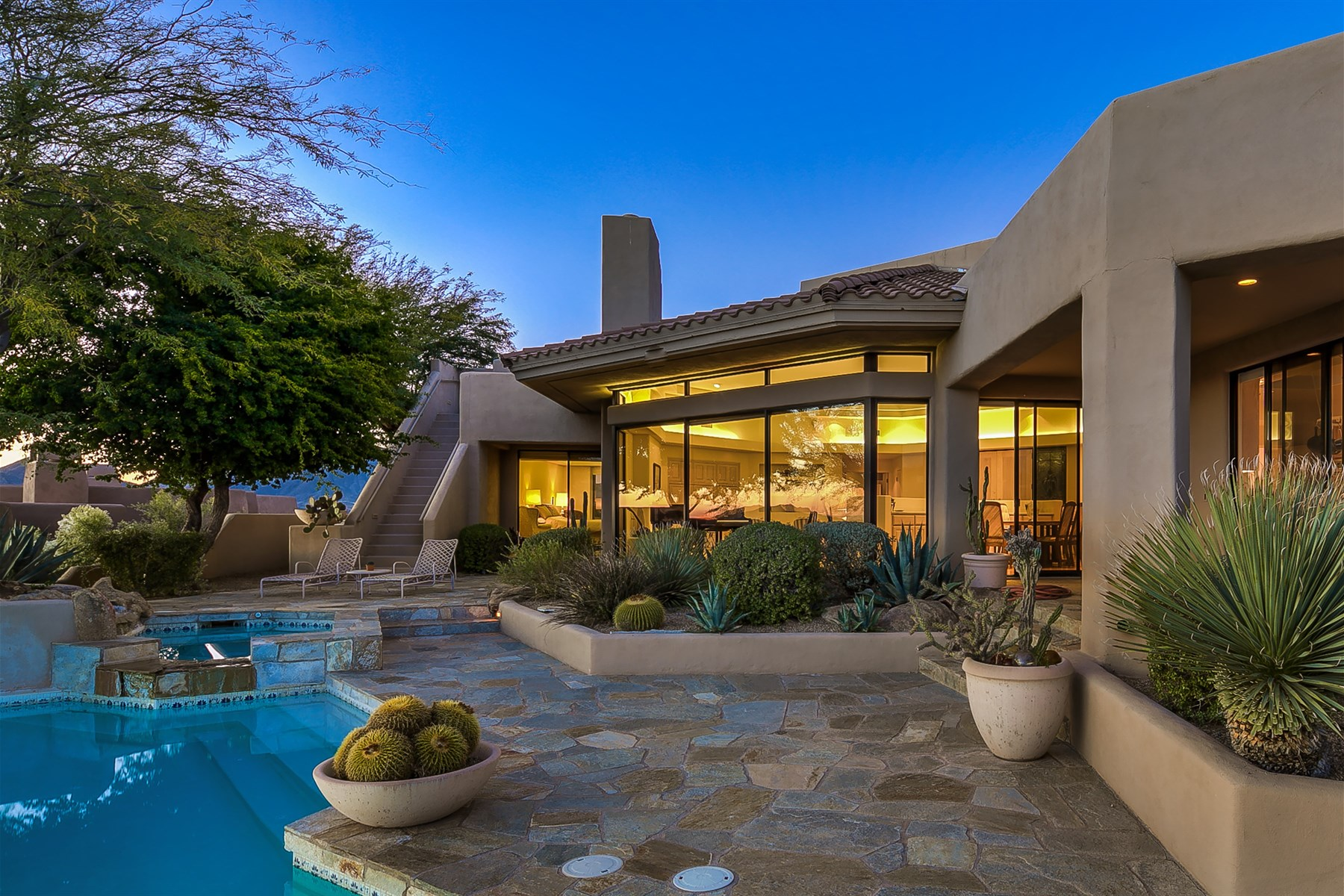 Single Family Home for Sale at Bright and open custom abounds with beautiful views 10665 E Palo Brea Dr Scottsdale, Arizona, 85262 United States
