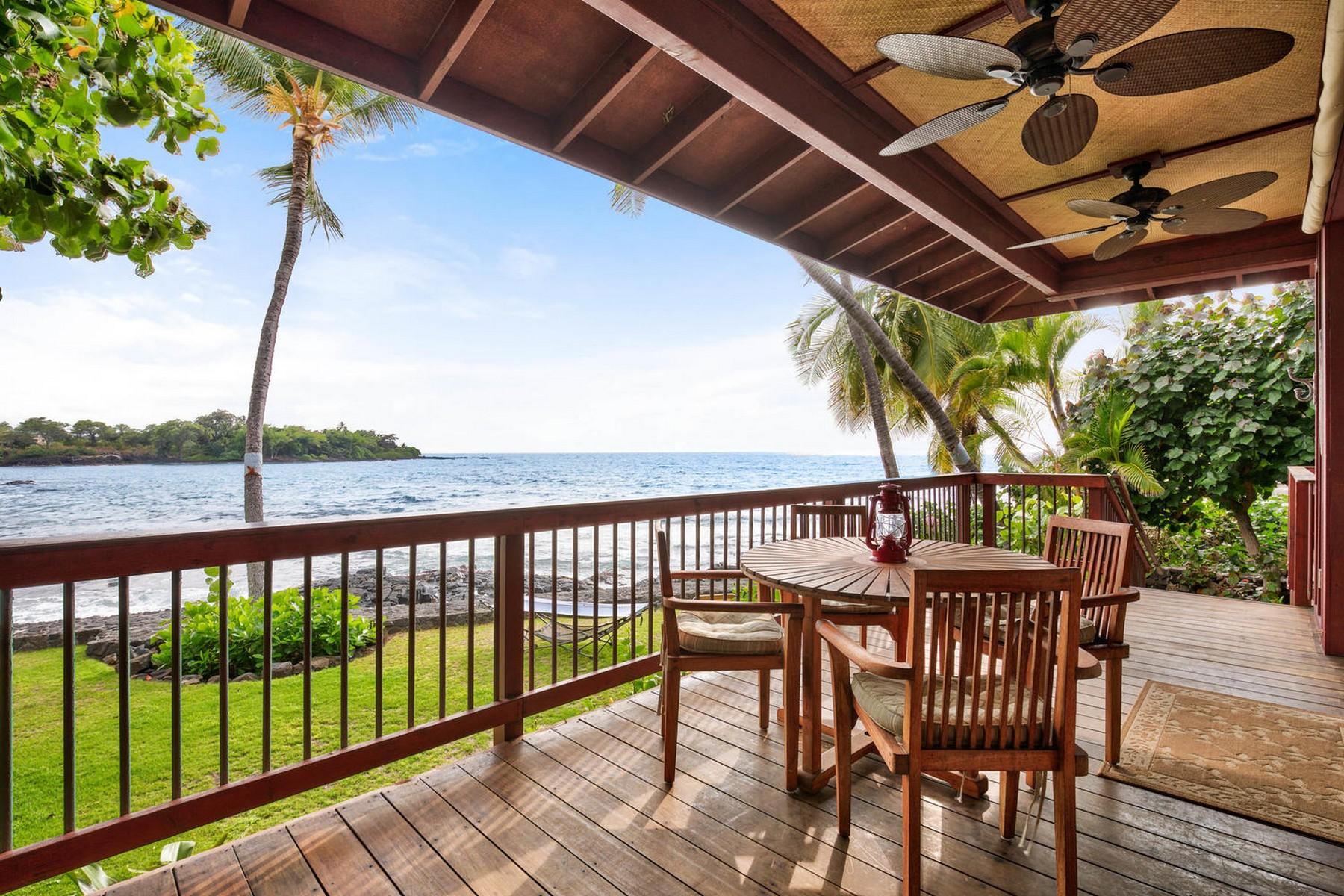 واحد منزل الأسرة للـ Sale في Holualoa Beach Section 76-6280-B Alii Drive Kailua-Kona, Hawaii 96740 United States