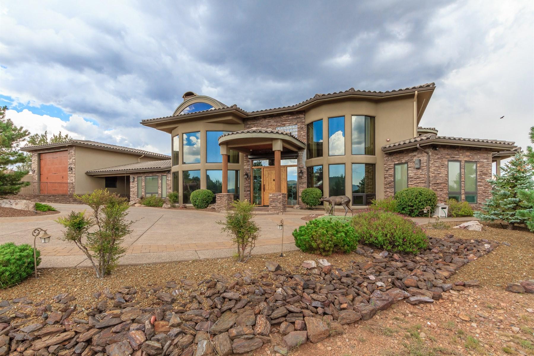 Einfamilienhaus für Verkauf beim Magnificant custom home near the highest point in forest trails 2004 PROMONTORY Prescott, Arizona, 86305 Vereinigte Staaten