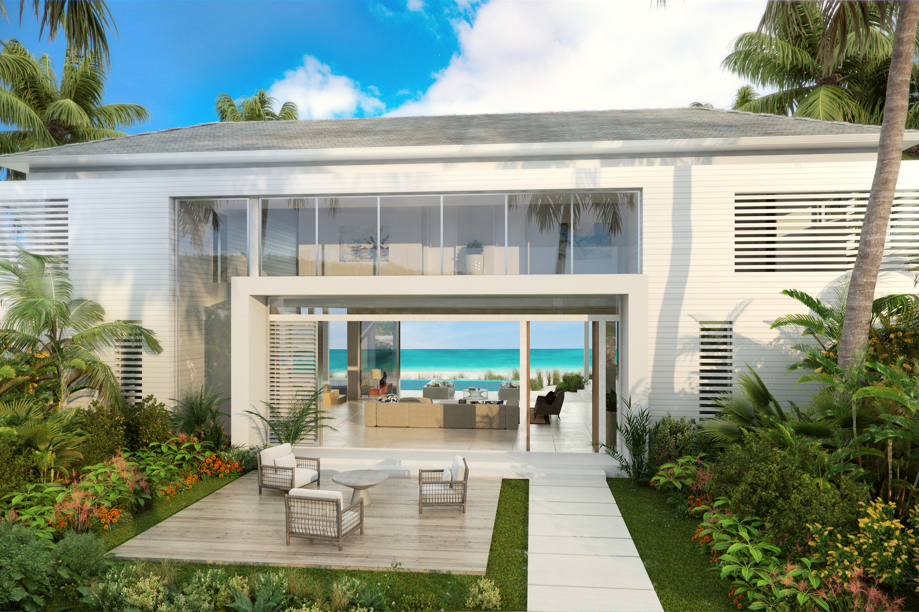 Additional photo for property listing at BEACH ENCLAVE GRACE BAY Design B Beachfront Grace Bay, Providenciales TCI Islas Turcas Y Caicos