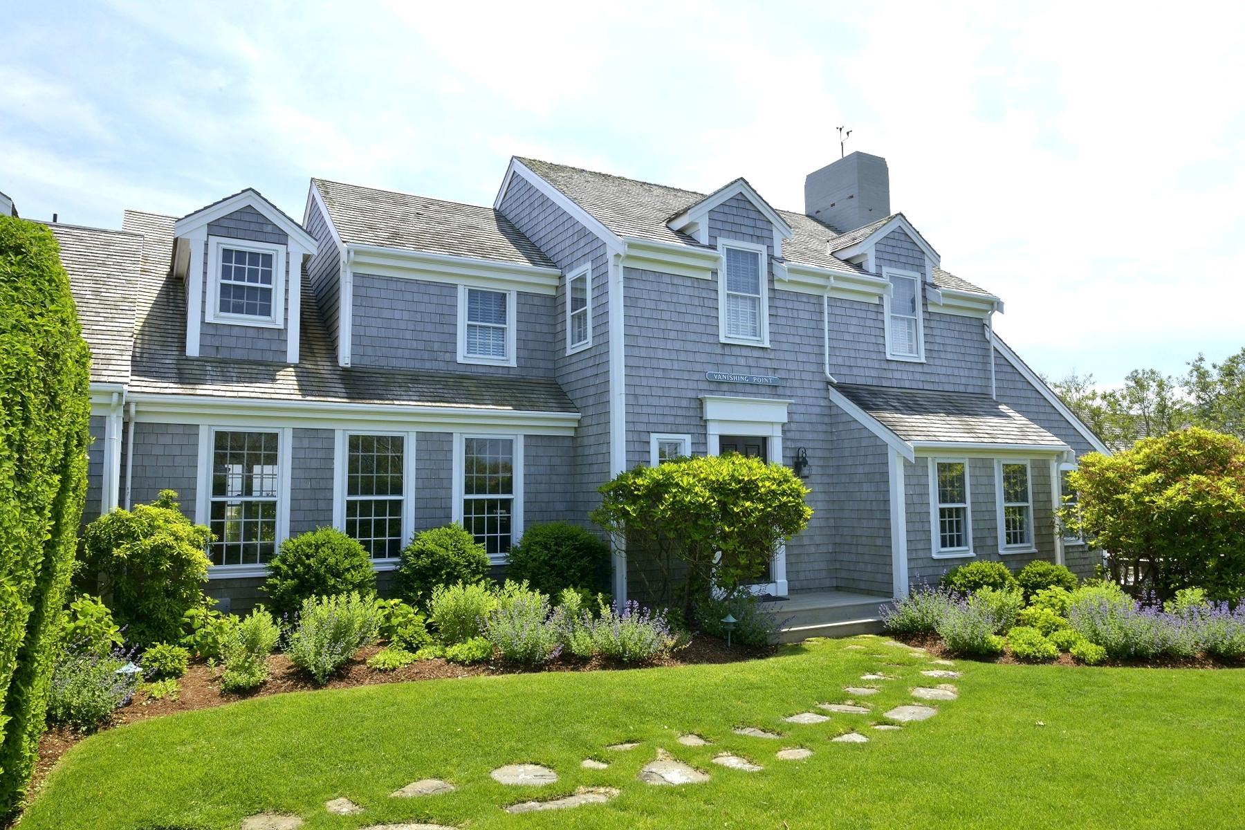 """Single Family Homes pour l Vente à """"Vanishing Point"""" 100 Low Beach Road Siasconset, Massachusetts 02564 États-Unis"""