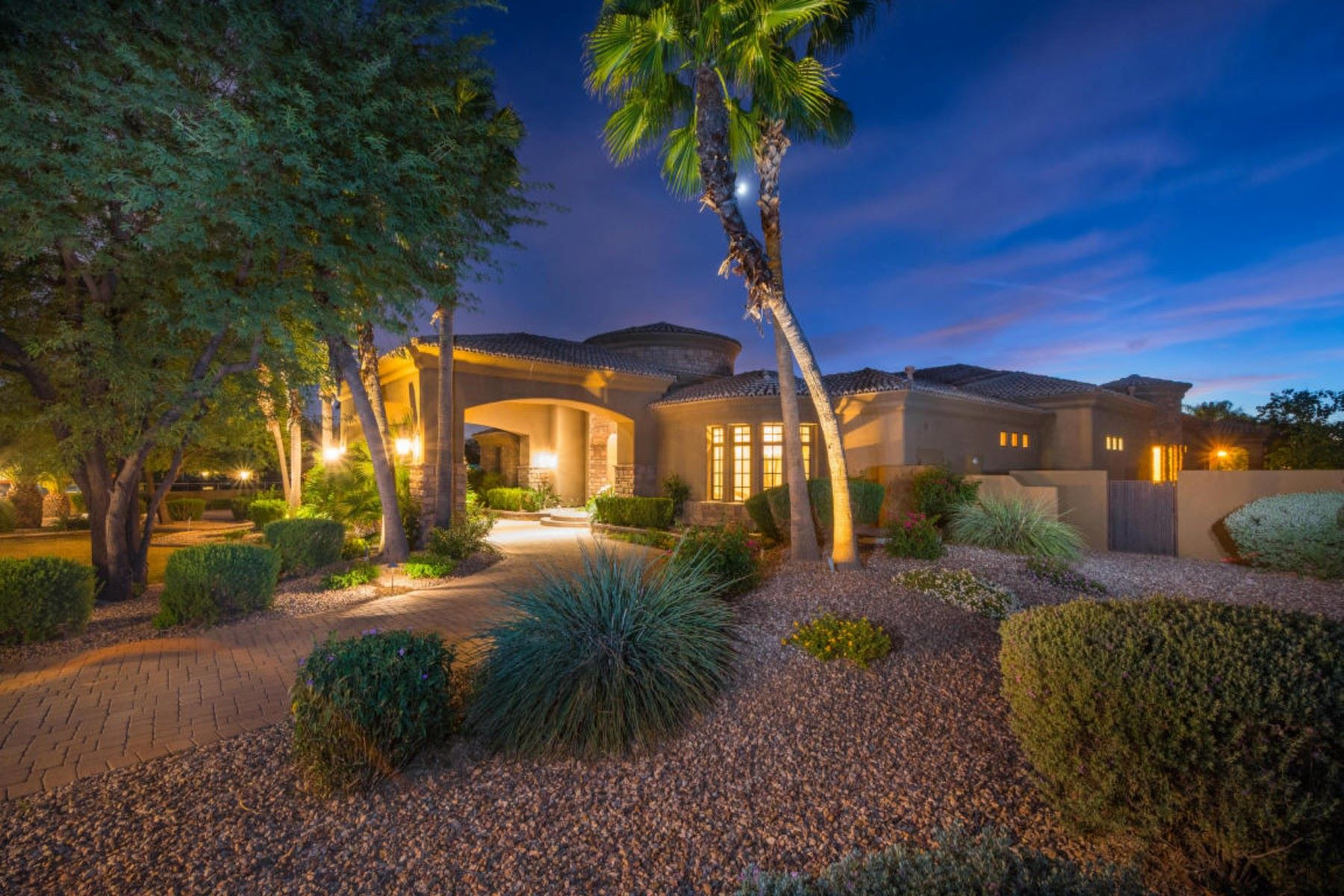 Single Family Home for Sale at Magnificent Mediterranean home behind private gates 12122 N 98th St Scottsdale, Arizona, 85260 United States