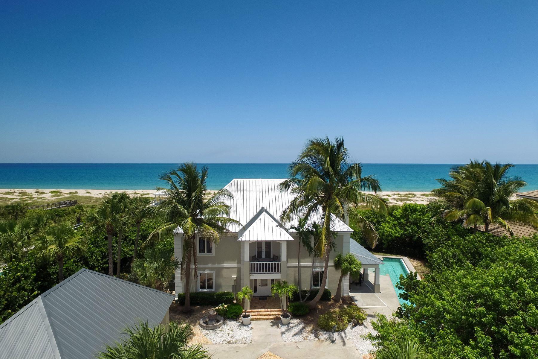 Casa para uma família para Venda às Oceanfront Estate Home 820 Crescent Beach Road Vero Beach, Florida, 32963 Estados Unidos