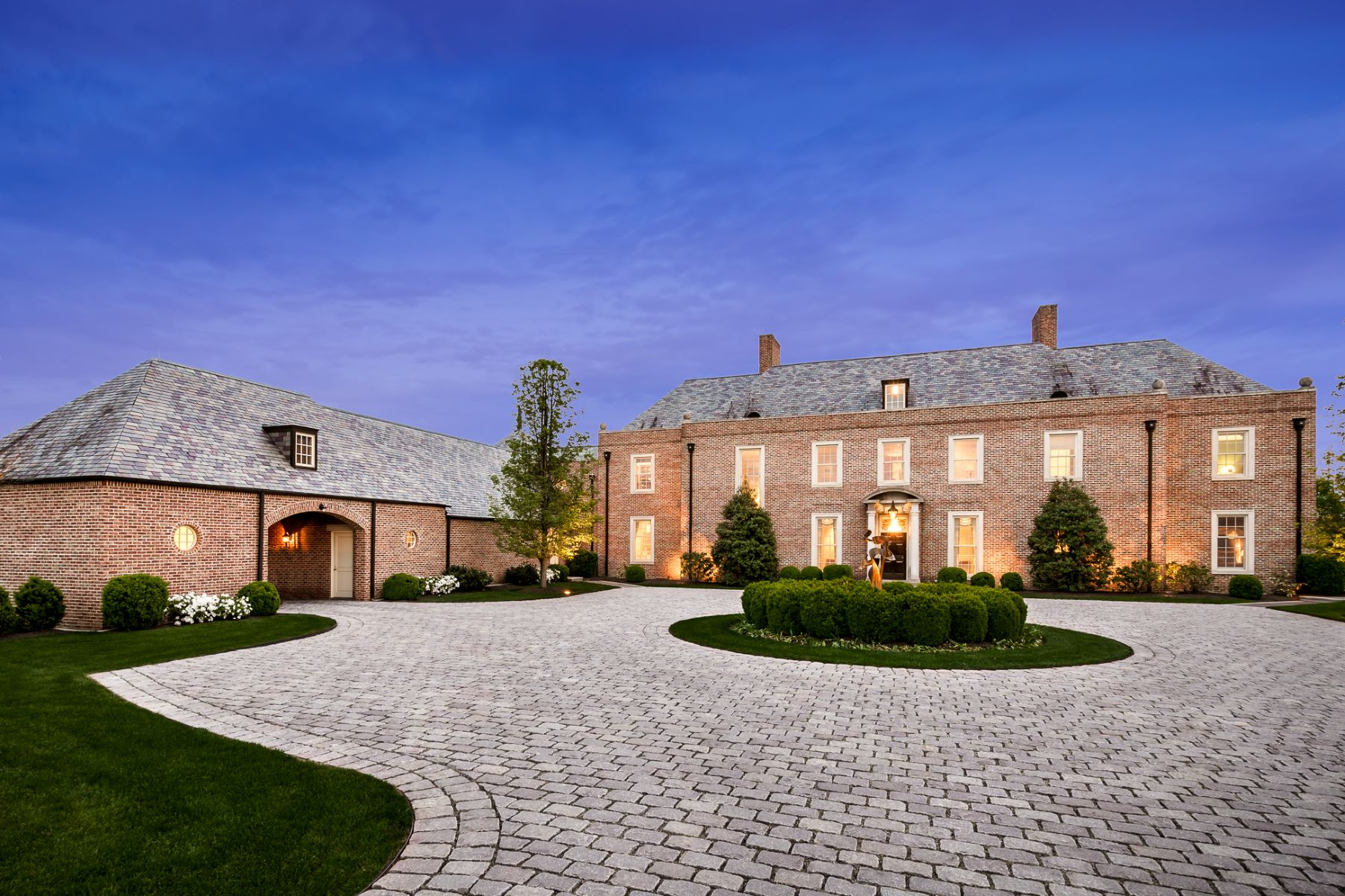 Vivienda unifamiliar por un Venta en An Extraordinary Georgian Estate, 5 Miles from Princeton - Hopewell Township 88 Elm Ridge Road Princeton, Nueva Jersey, 08540 Estados Unidos