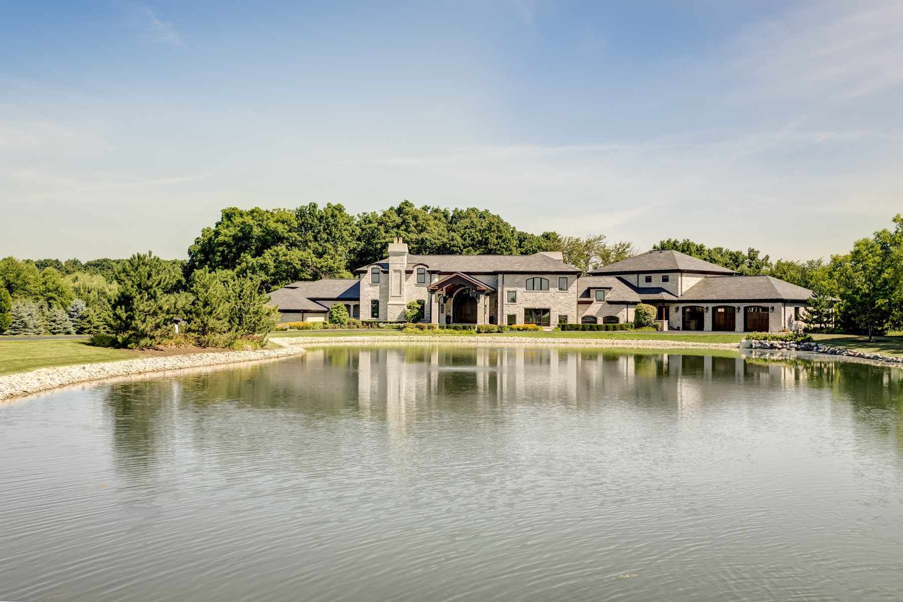 Single Family Home for Sale at Contemporary Custom Limestone Home 14848 104th Street Bristol, Wisconsin 53142 United States