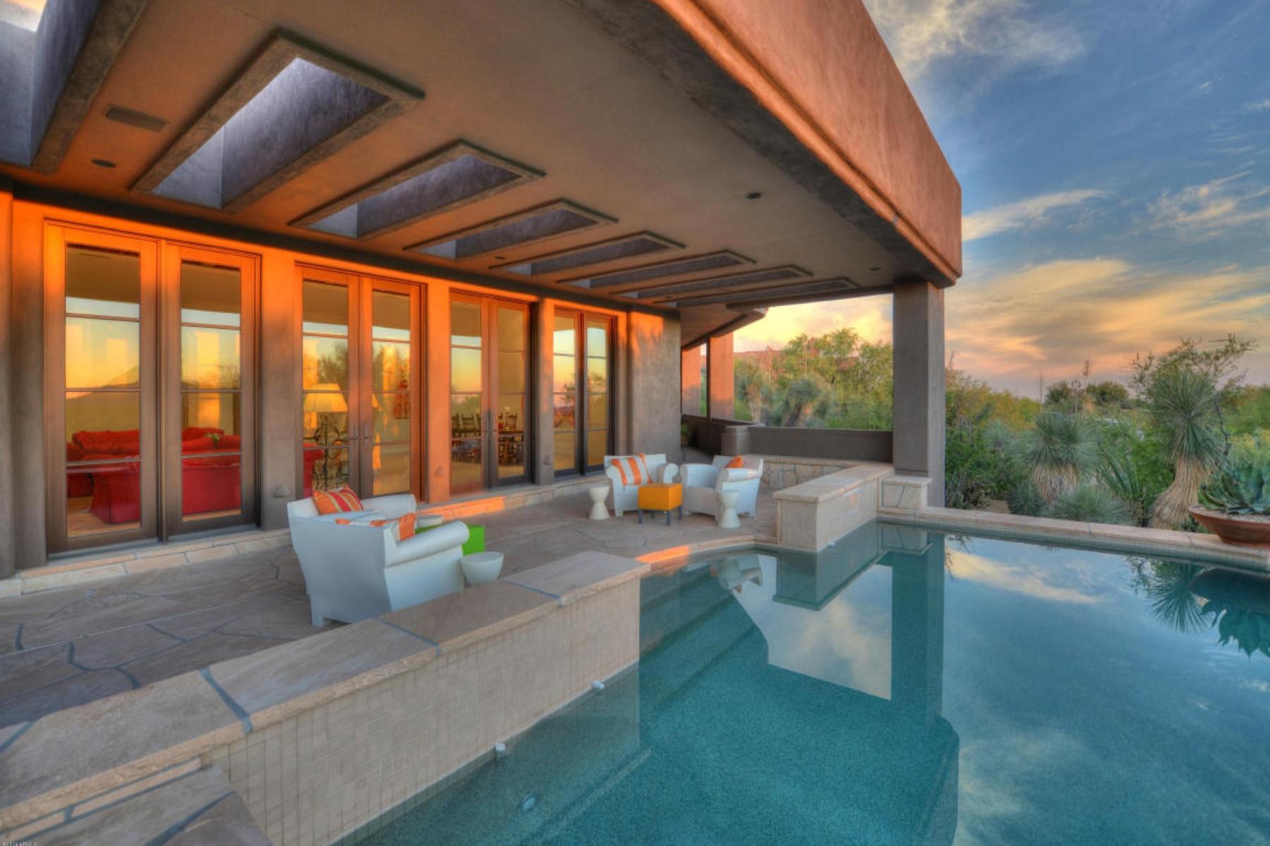 단독 가정 주택 용 매매 에 Santa Barbara Desert Oasis in Desert Mountain 39658 N 104th St, Scottsdale, 아리조나, 85262 미국