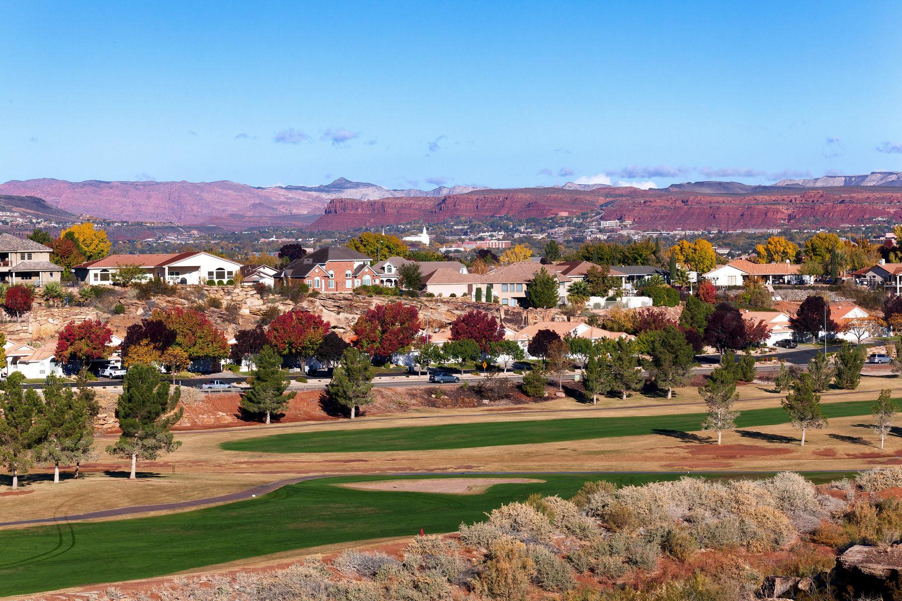 Terrain pour l Vente à Spectacular Homesite with 360º Views 2432 South 1400 East St. George, Utah, 84770 États-Unis