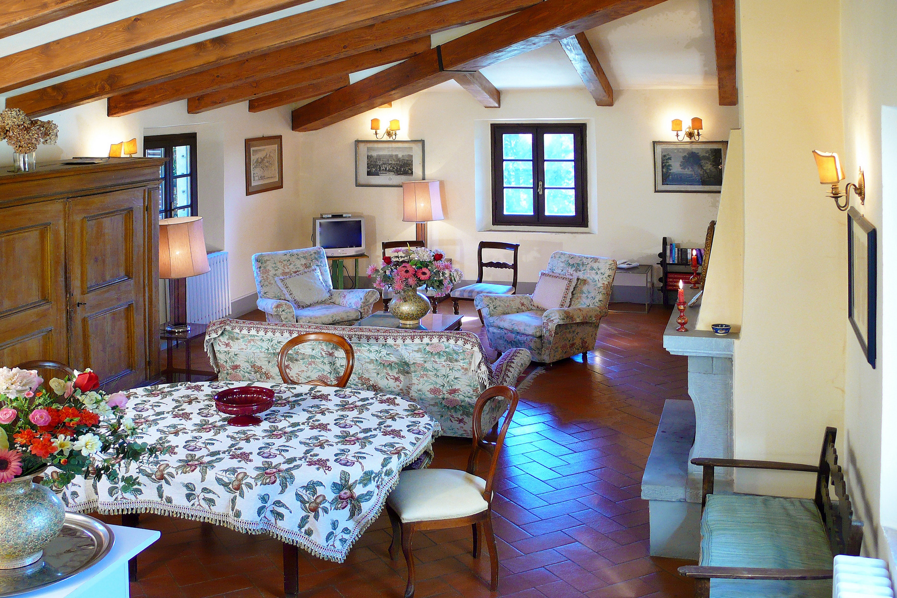 Apartment for Rent at Apartment in Historic Villa Montespertoli, Florence Italy