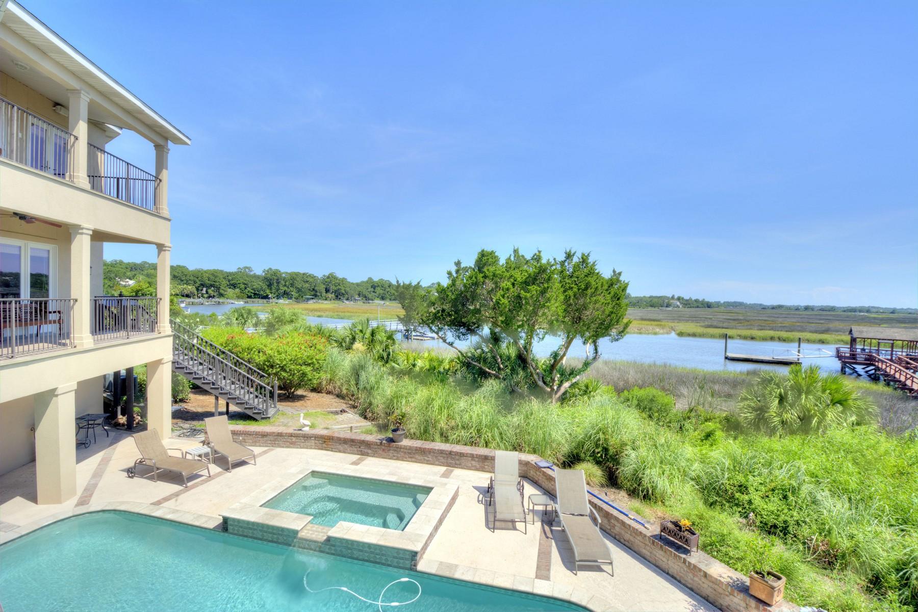 Частный односемейный дом для того Продажа на 11 Dunbar Creek Pt 11 Dunbar Creek Point St. Simons Island, Джорджия 31522 Соединенные Штаты