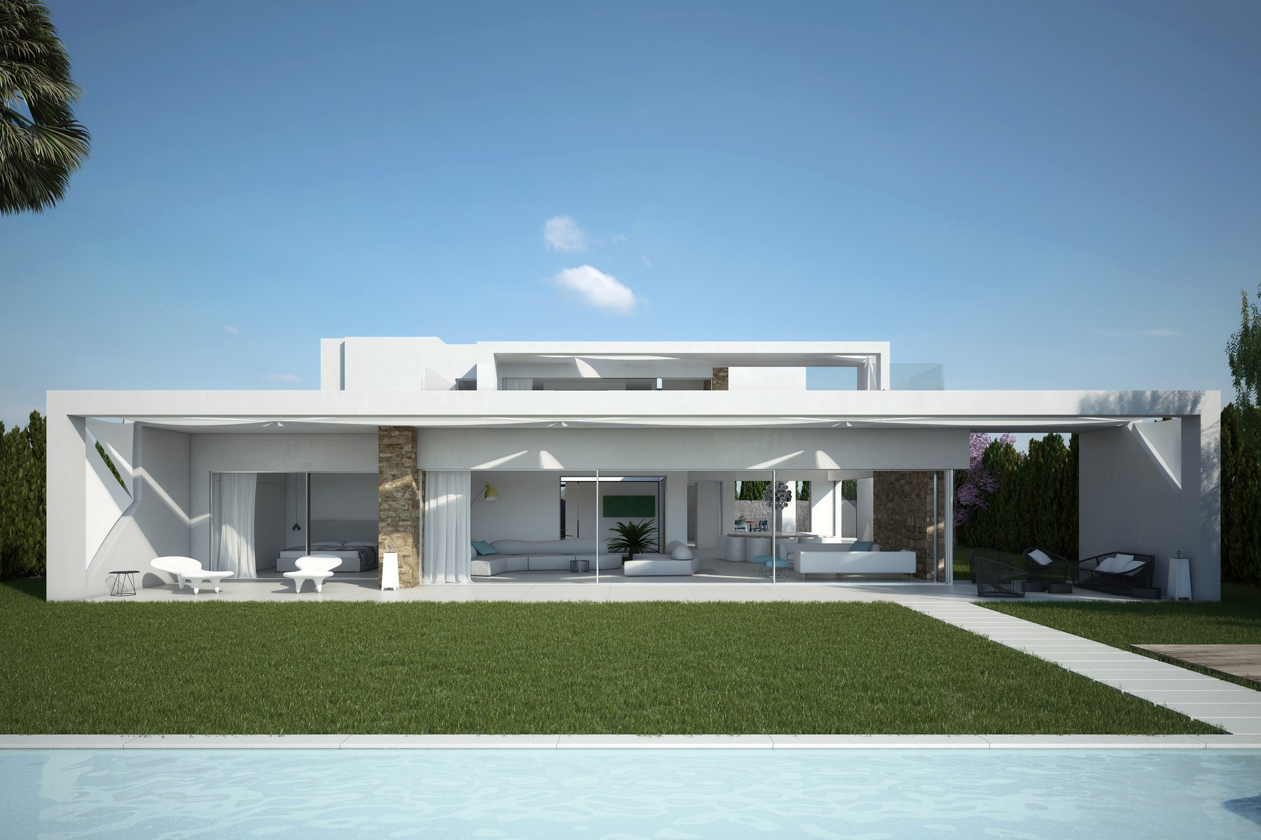 Maison unifamiliale pour l Vente à Brand New Development In Exclusive Community Cala Conta, Ibiza, 07829 Espagne
