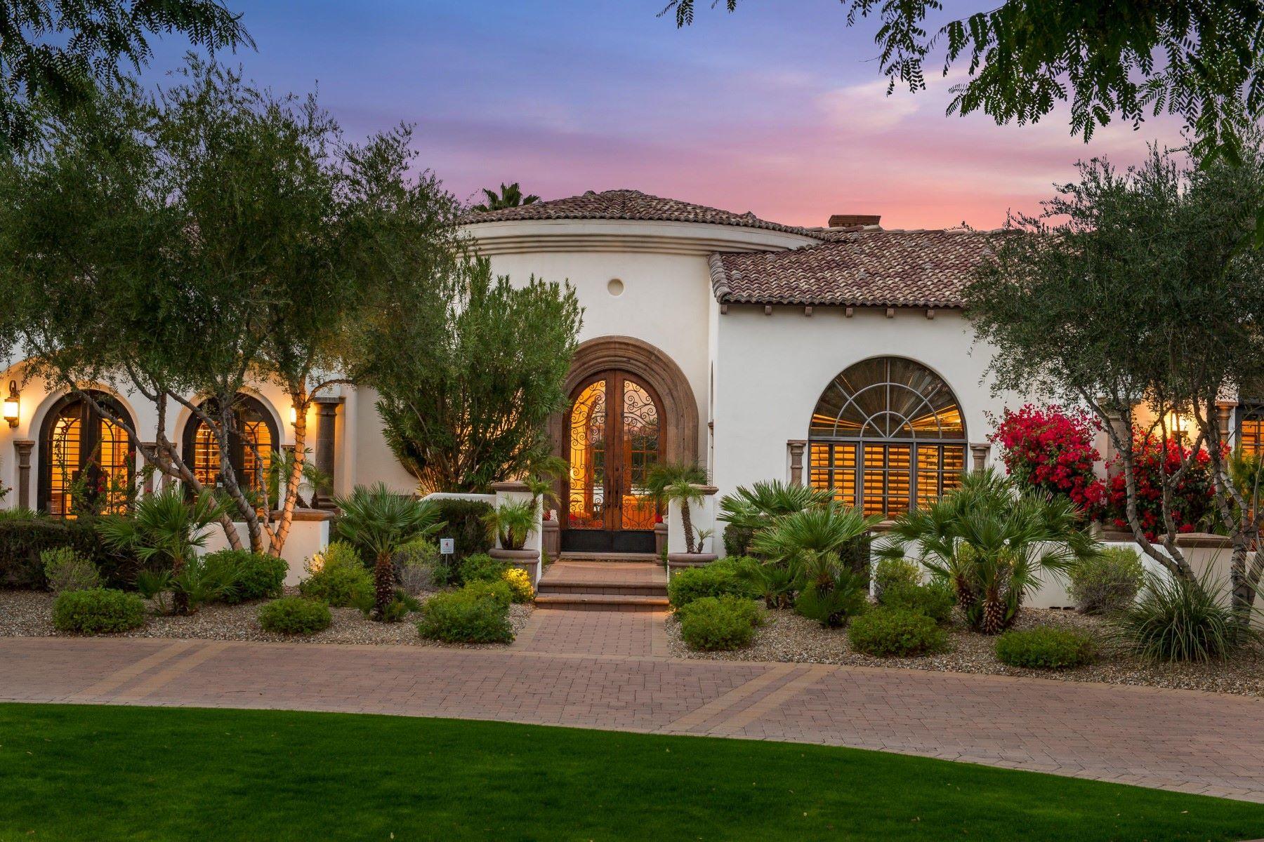 Single Family Home for Sale at Timeless Santa Barbara masterpiece 6770 E Bluebird Ln Paradise Valley, Arizona, 85253 United States