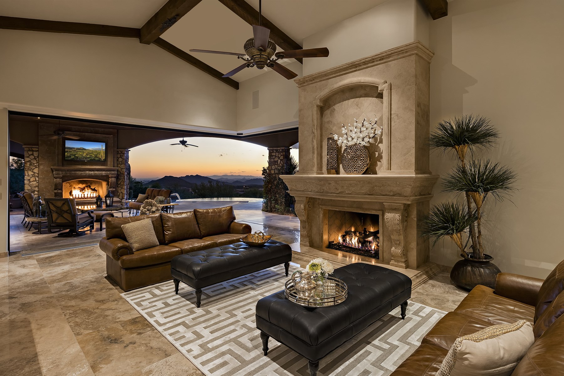 Single Family Home for Sale at Warmth and elegance greet you at the front door with putting green and waterfall 42145 N 111th Place Scottsdale, Arizona, 85262 United States