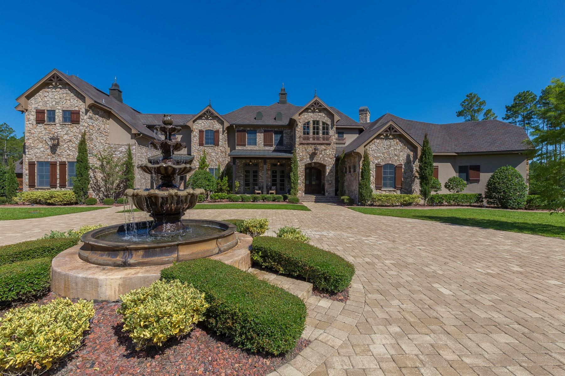Частный односемейный дом для того Продажа на Exquisite Old World Equestrian Estate 417 Triple Crown Lane St. Johns, Флорида, 32259 Соединенные Штаты