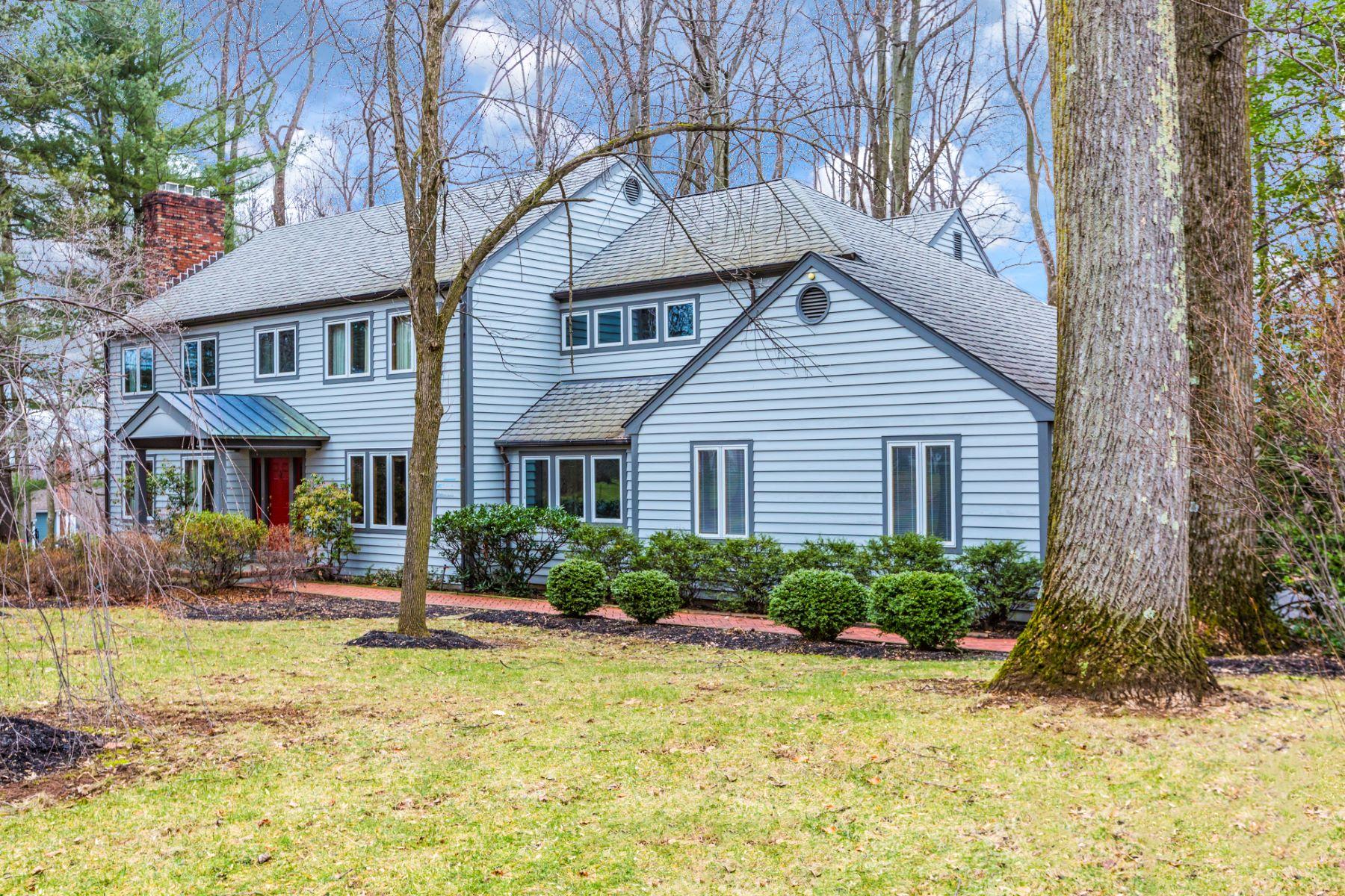 Maison unifamiliale pour l Vente à Princeton Cul-De-Sac Home Impresses and Inspires 89 Dogwood Hill Princeton, New Jersey, 08540 États-Unis