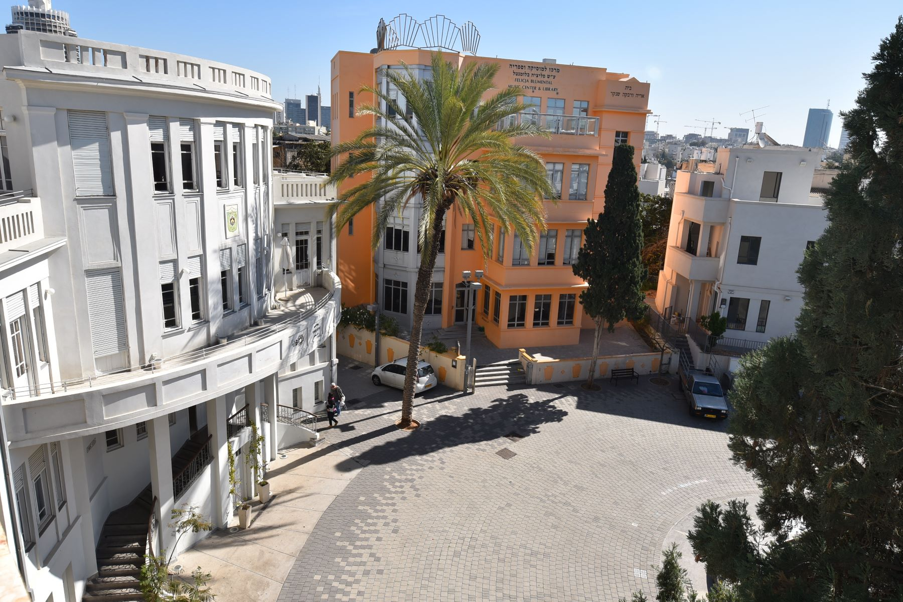 Additional photo for property listing at Bialik Square renovated building entire floor new apartment Tel Aviv, Israel Israel