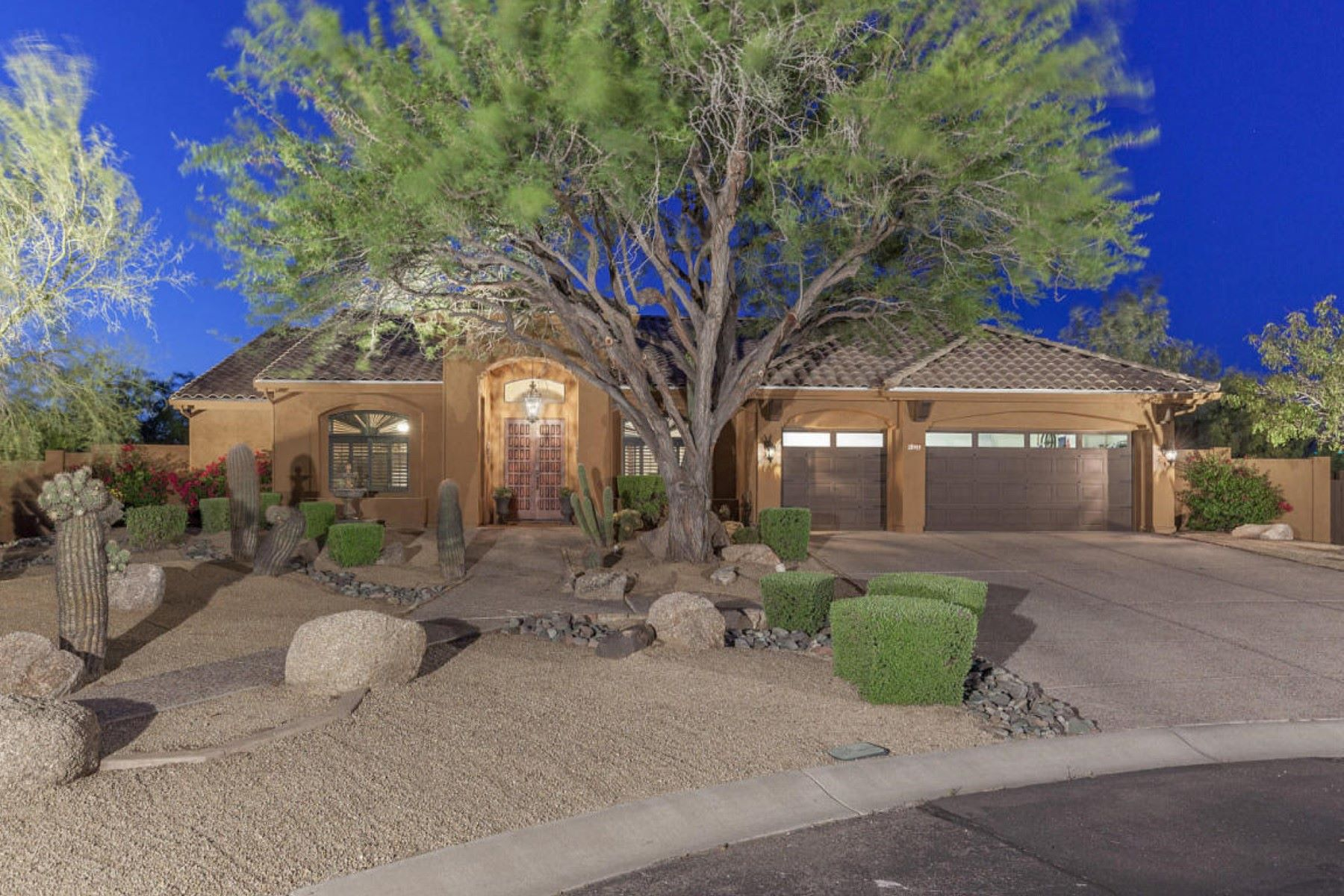 Single Family Home for Sale at Elegant and extensively remodeled North Scottsdale semi custom home 24909 N 87th Way Scottsdale, Arizona, 85255 United States