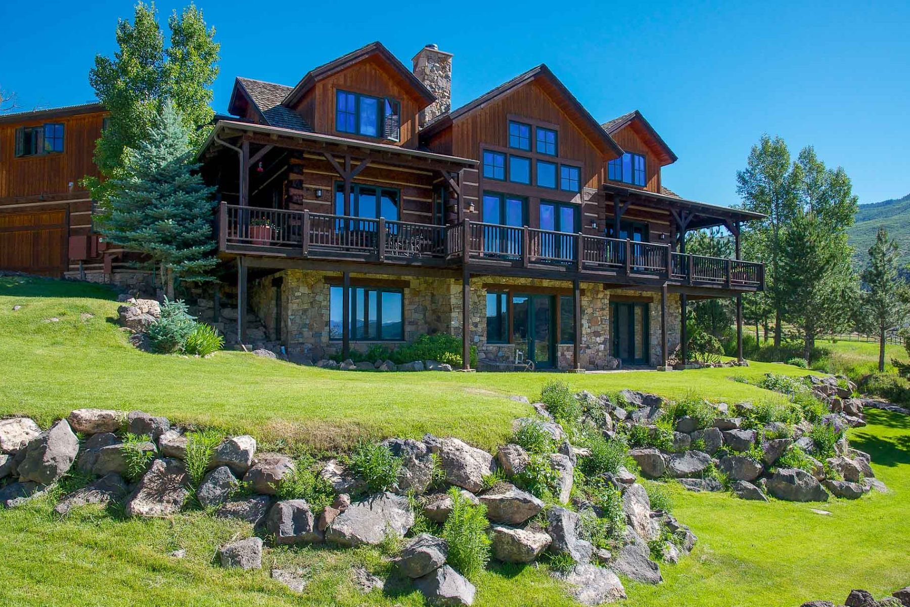 Single Family Home for Active at Log Home with Majestic Views Carbondale, Colorado 81623 United States