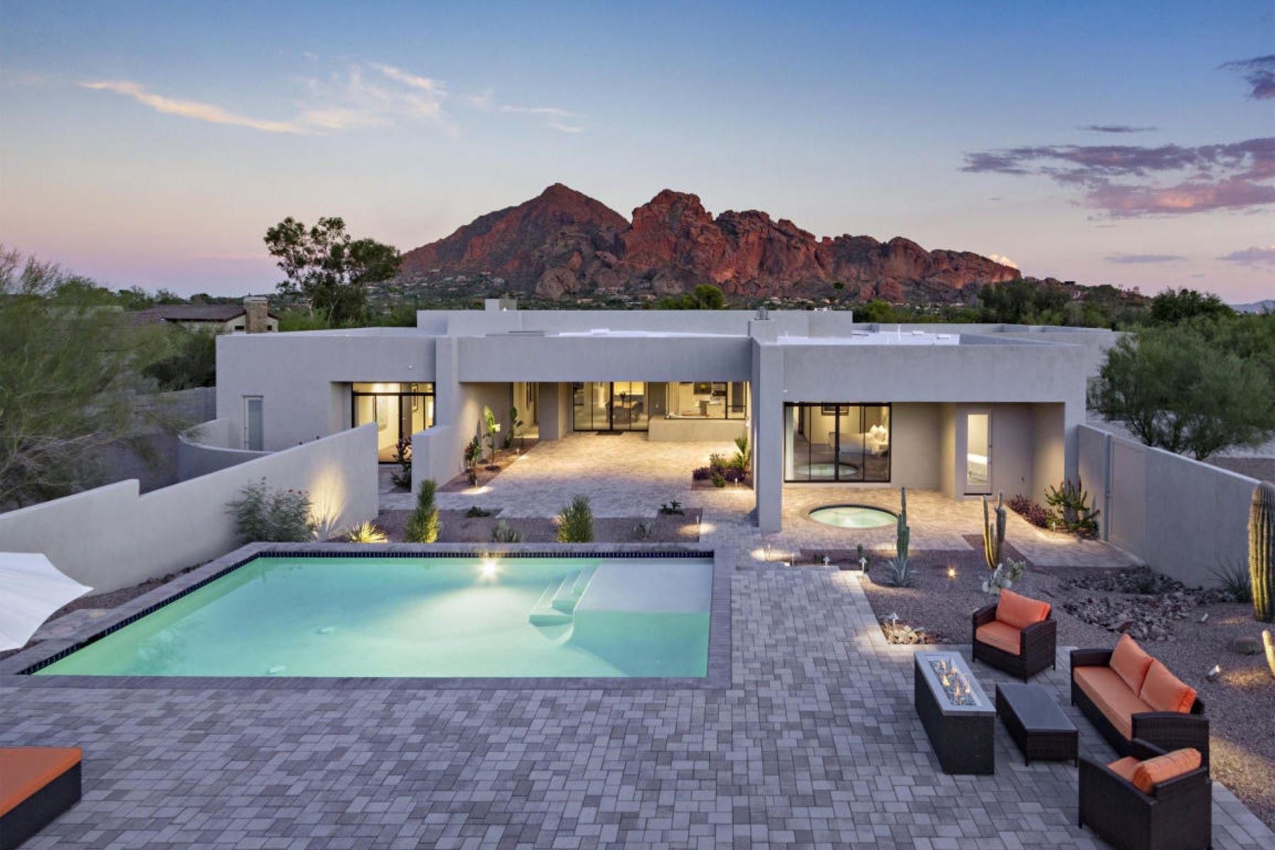 獨棟家庭住宅 為 出售 在 Luxury contemporary home in Paradise Valley 4700 E Sierra Vista Dr Paradise Valley, 亞利桑那州, 85253 美國