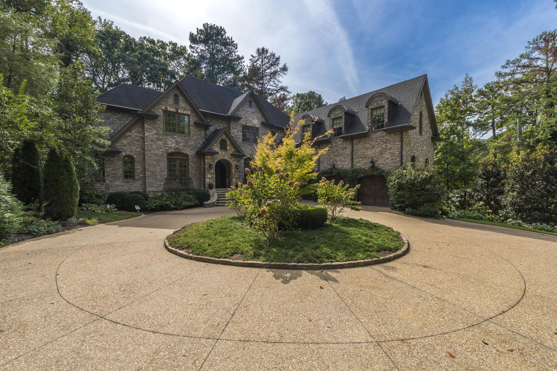 단독 가정 주택 용 매매 에 Beautiful Custom Built Home 1118 W Wesley Road NW Buckhead, Atlanta, 조지아, 30327 미국