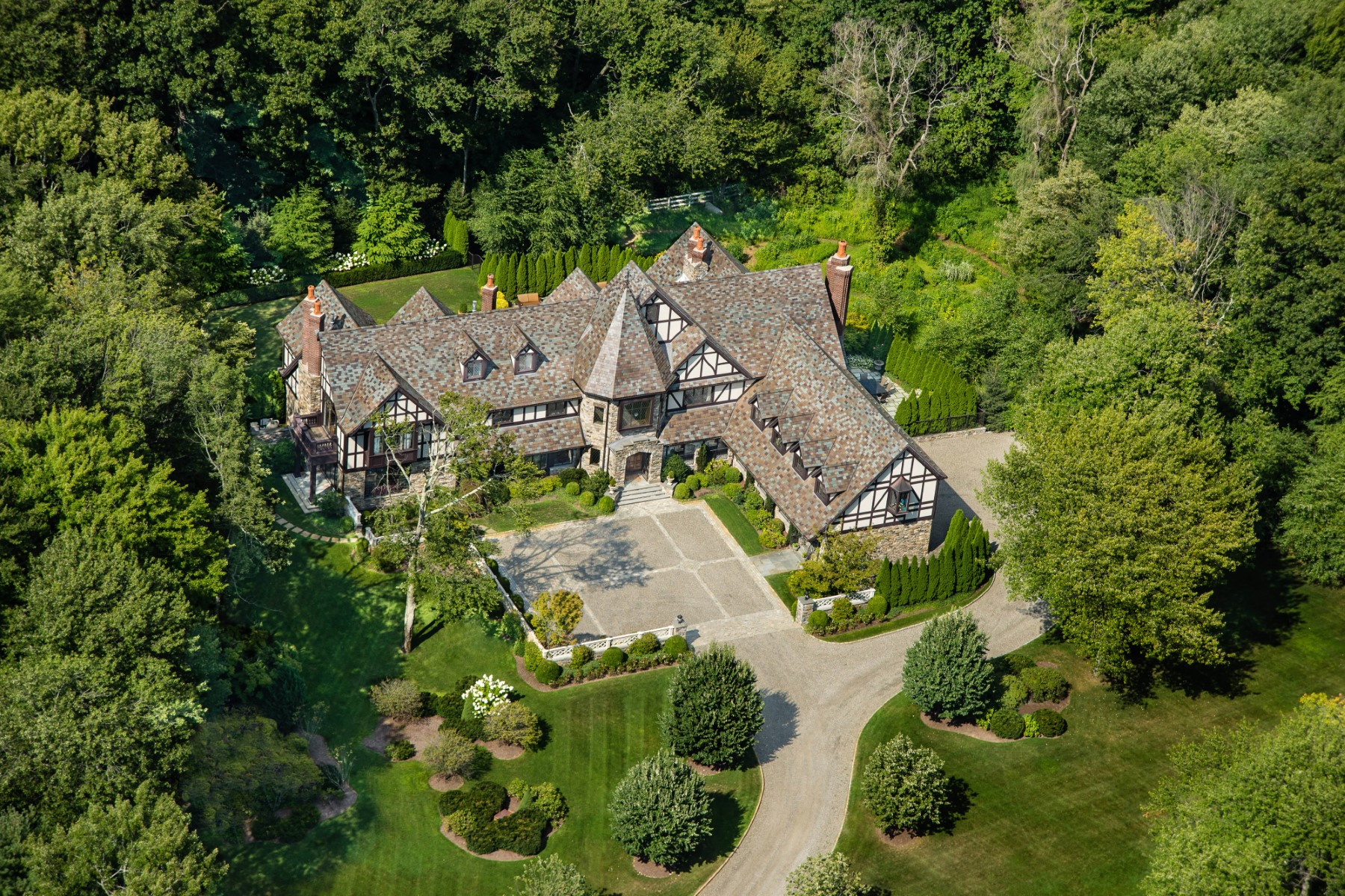Single Family Home for Sale at Dramatic Estate with European Flair 918 North Street Greenwich, Connecticut 06831 United States