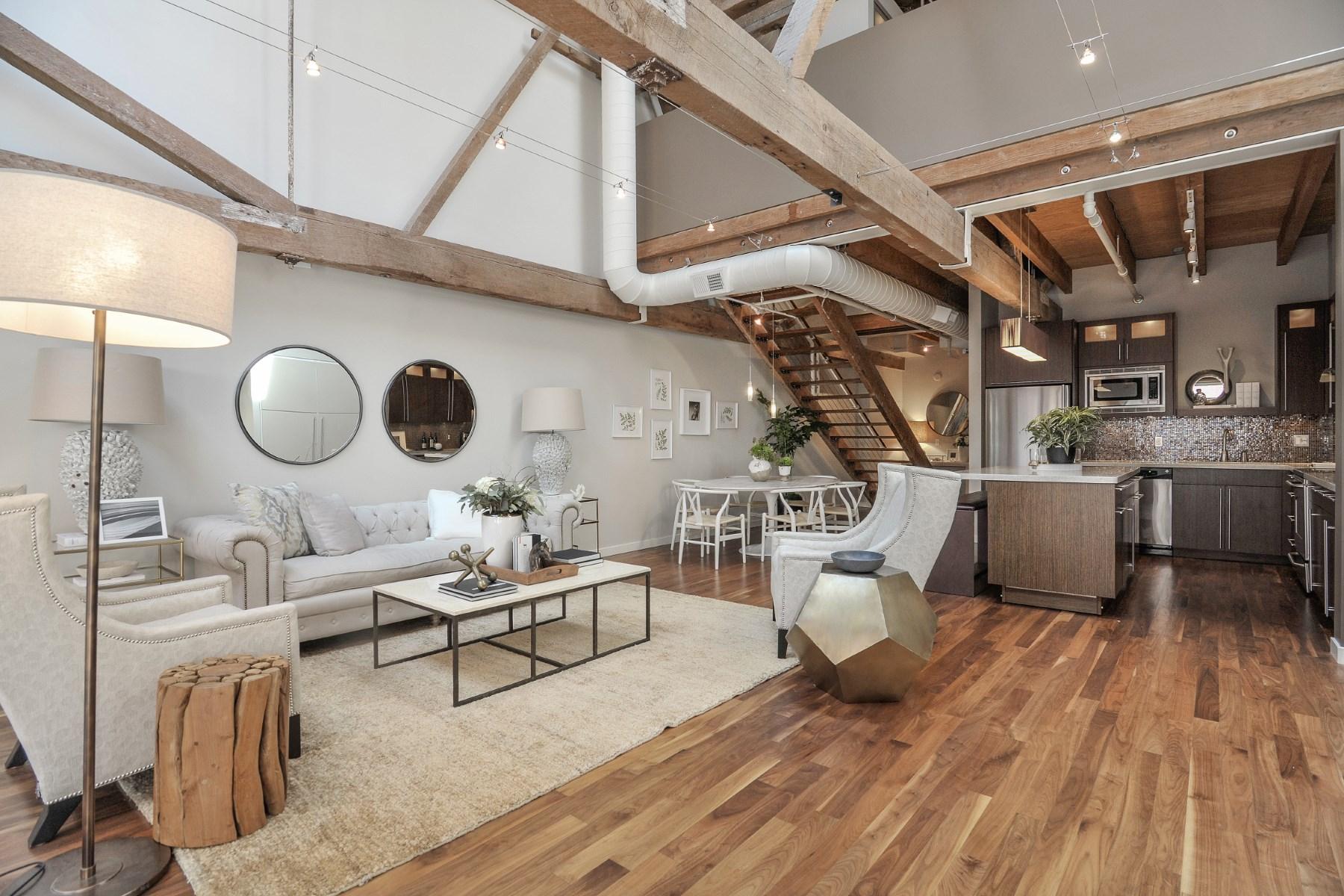 Condominium for Sale at Stunning Brick and Timber Loft 650 Delancey St Apt 311 South Beach, San Francisco, California, 94107 United States