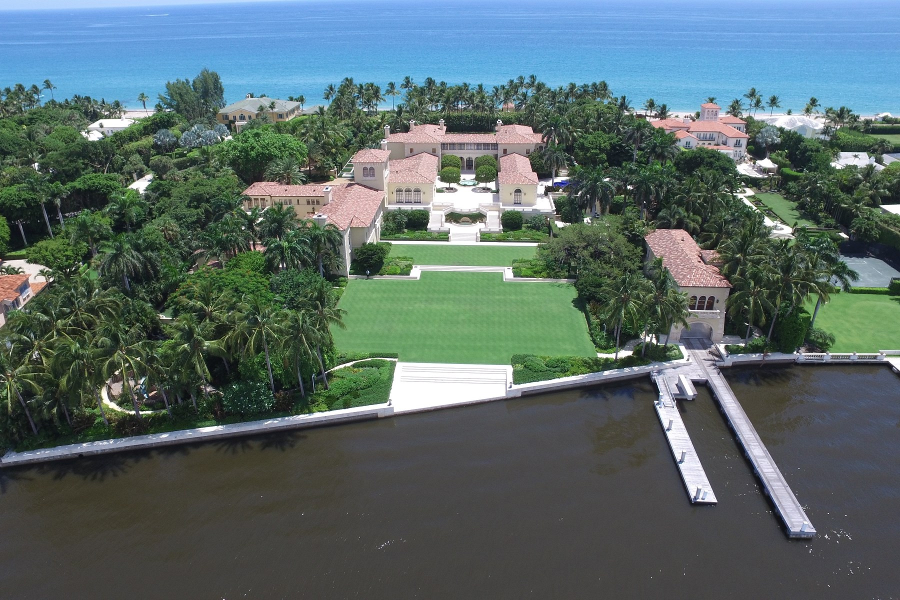 Maison unifamiliale pour l Vente à II Palmetto Estate Section, Palm Beach, Florida, 33480 États-Unis
