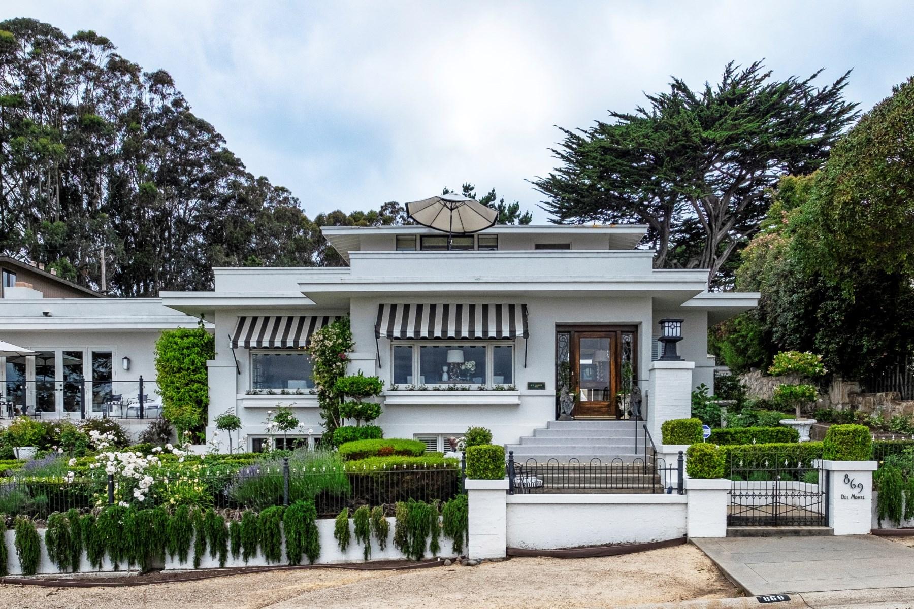 Single Family Home for Sale at Architectural Masterpiece 869 Del Monte Blvd Pacific Grove, California, 93950 United States