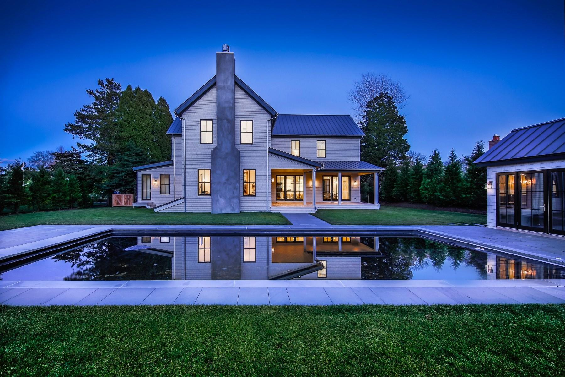 Maison unifamiliale pour l Vente à New, Modern, Smart Farmhouse Amagansett, New York 11930 États-Unis