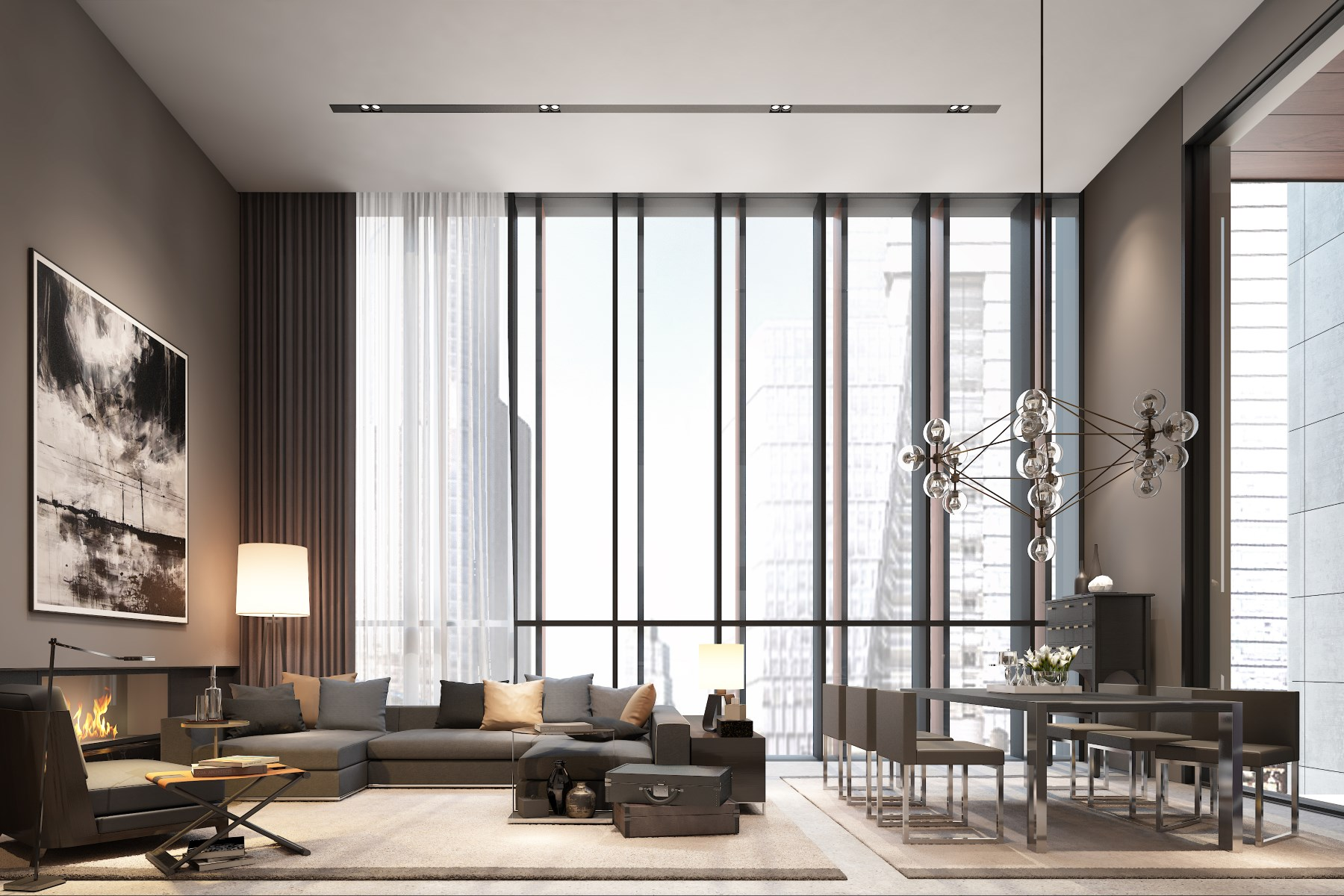 共管物業 為 出售 在 Soori High Line – Residence 3D 522 West 29th Street Apt 3D Chelsea, New York, 紐約州, 10001 美國