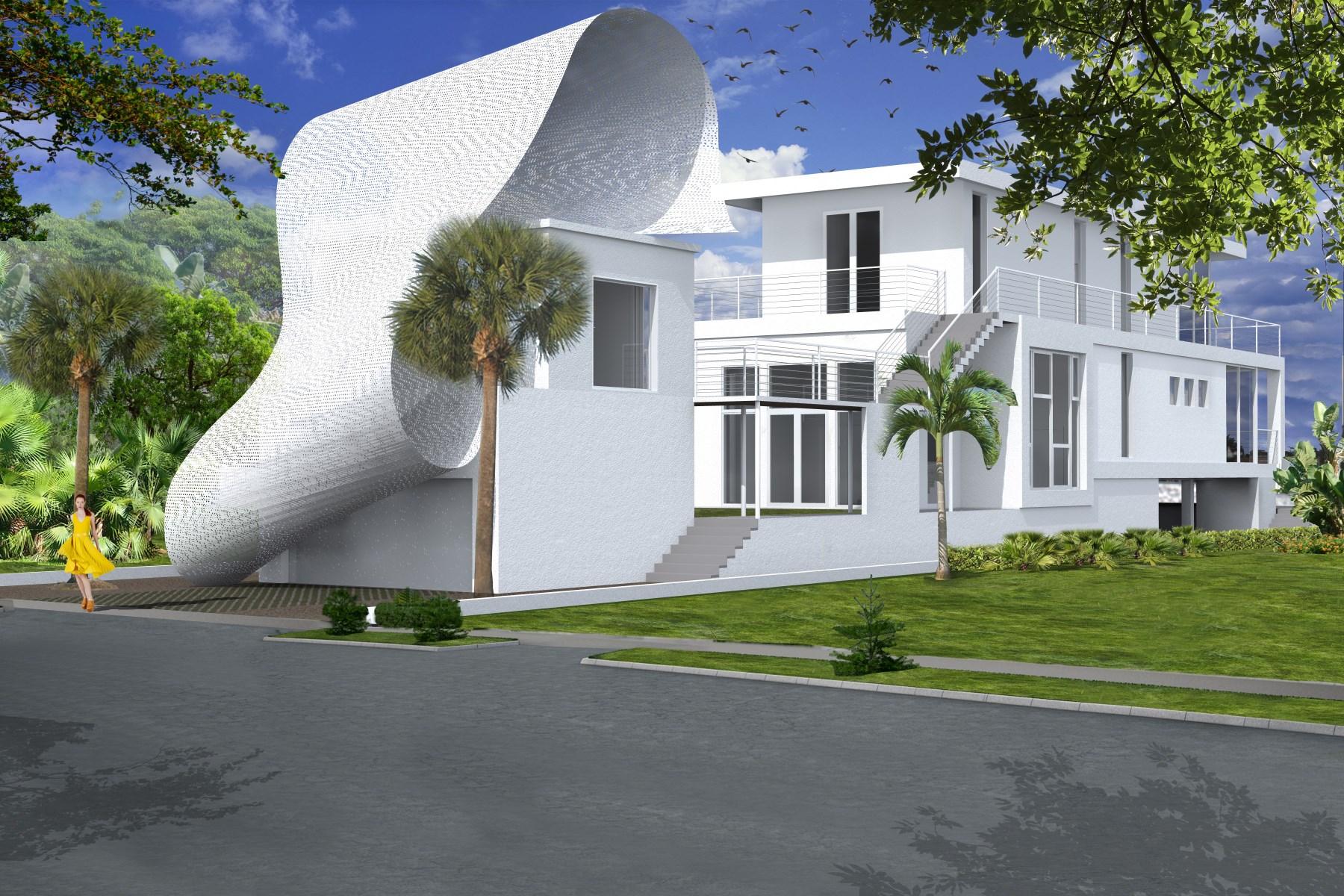 Einfamilienhaus für Verkauf beim Contemporary Green Home on Intracoastal 321 S Atlantic Dr Lantana, Florida 33462 Vereinigte Staaten