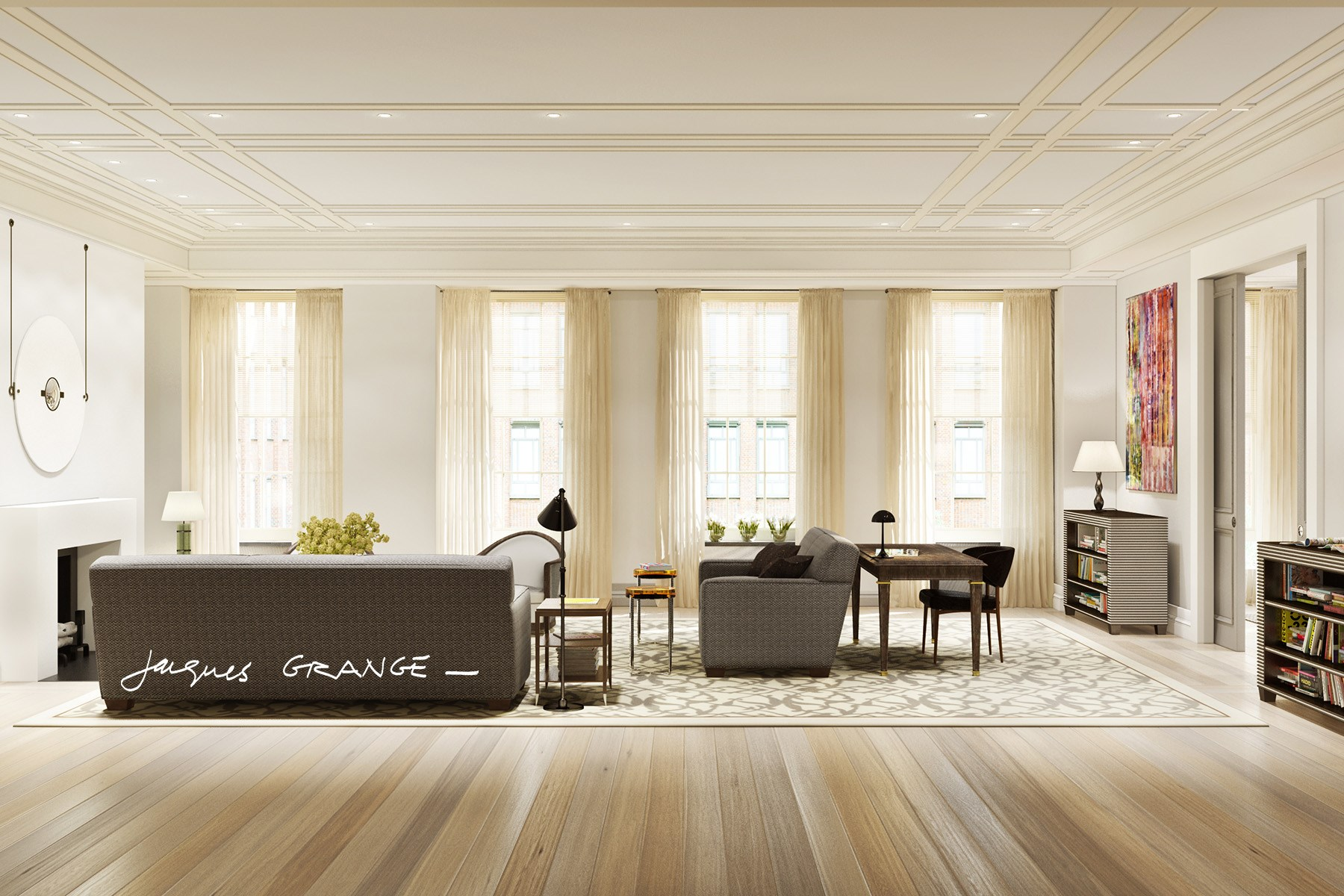 Appartement en copropriété pour l Vente à Jacques Grange, Barry Rice Collaboration 40 East 72nd Street Residence 5 Upper East Side, New York, New York, 10021 États-Unis