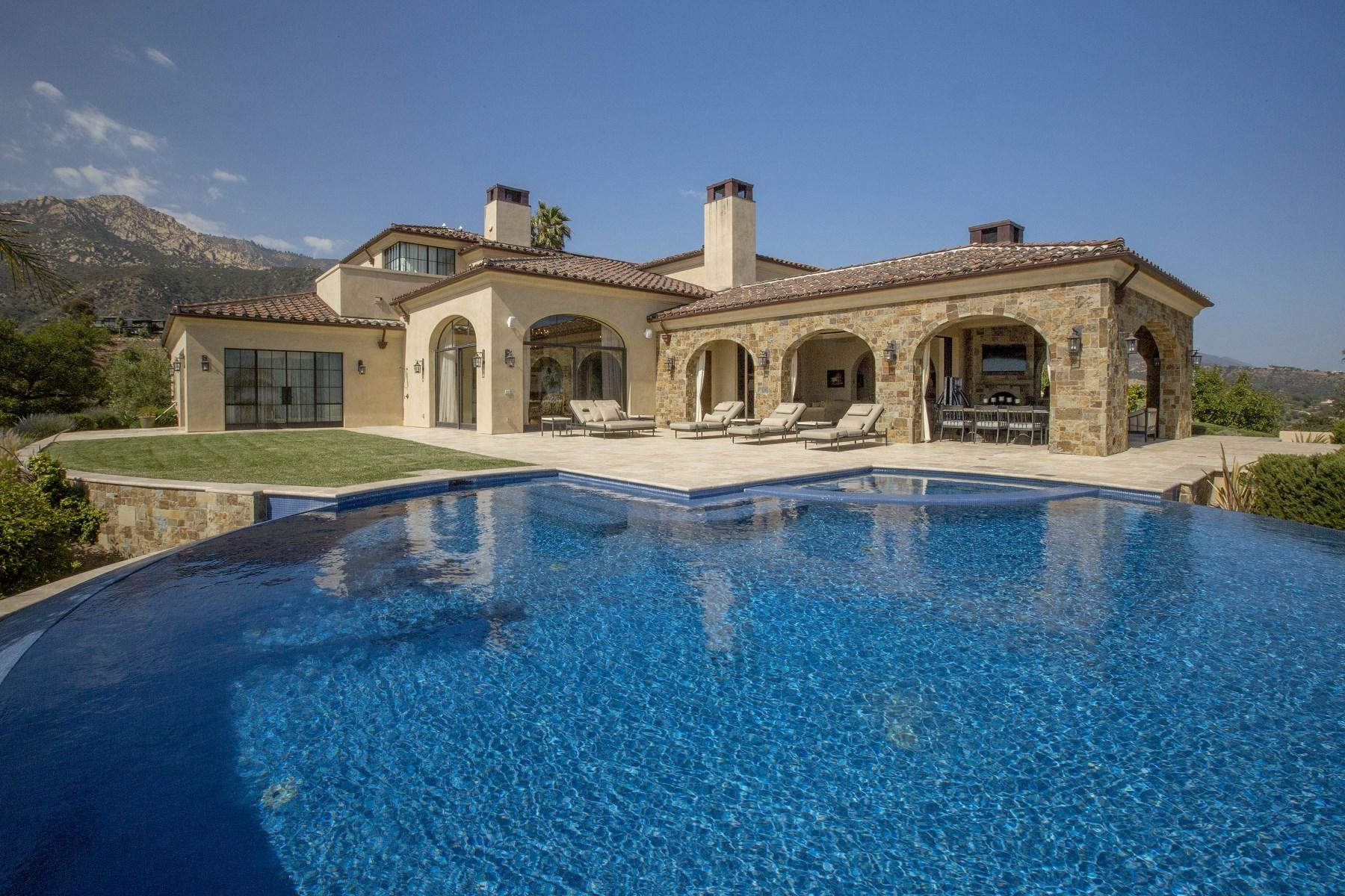 Single Family Home for Sale at Santa Barbara Italian Villa 2809 Holly Road Santa Barbara, California, 93105 United States
