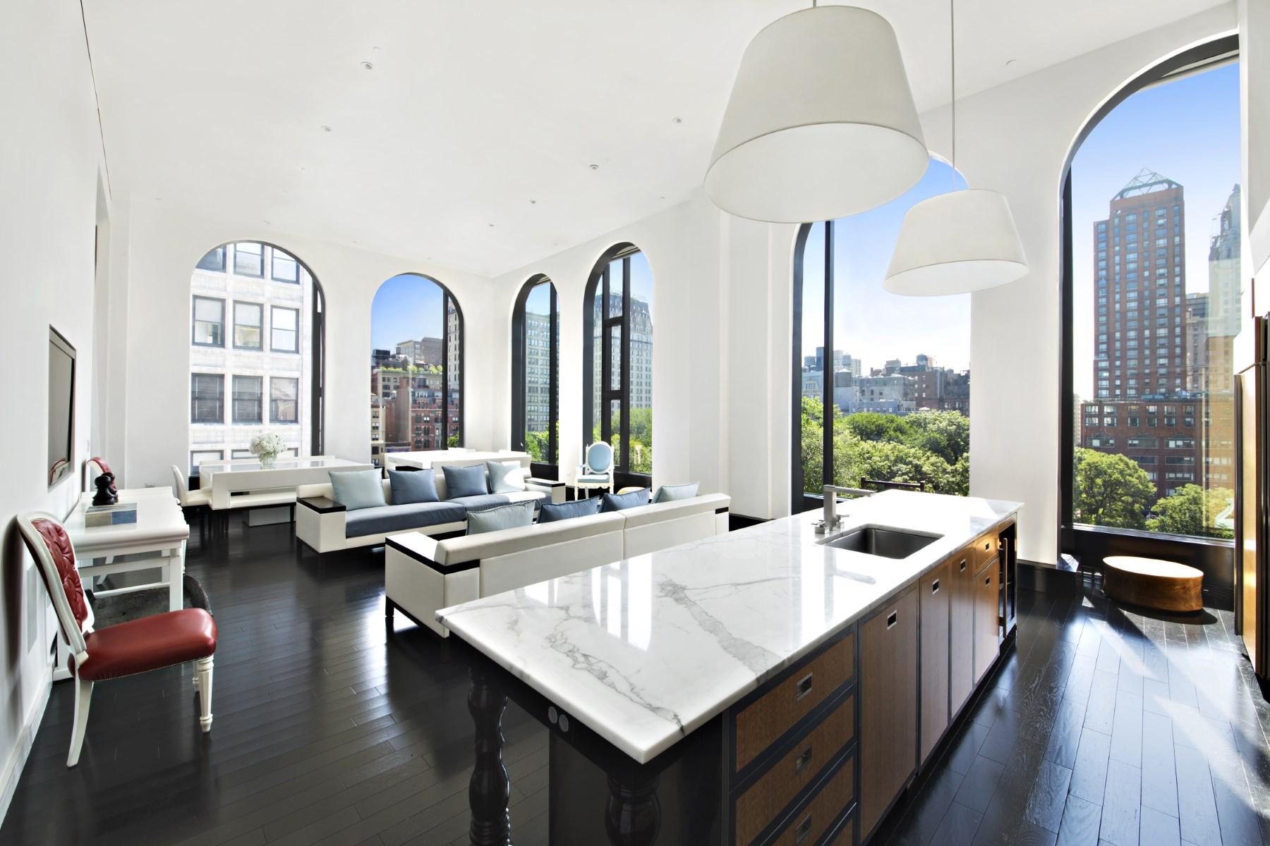 Condominium for Rent at 16' High Windows on Park, 15 Union Sq W 15 Union Square West Apt 6b New York, New York 10003 United States
