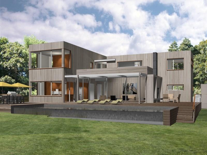 Single Family Home for Sale at New Modern Construction in Amagansett 22 Scrimshaw Lane Amagansett, New York 11930 United States