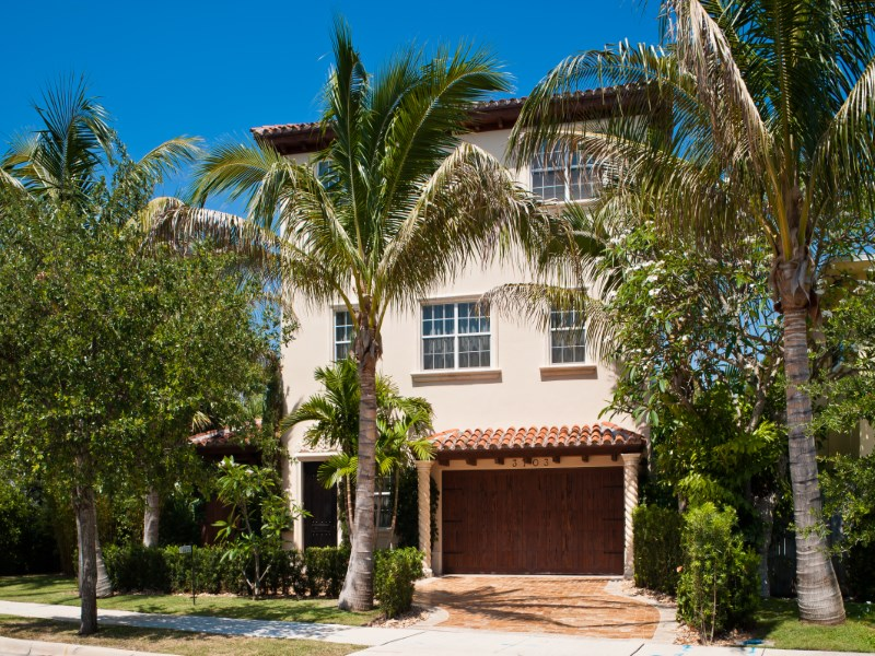 Single Family Home for Sale at Three Story Villa 3703 Washington Rd West Palm Beach, Florida 33405 United States