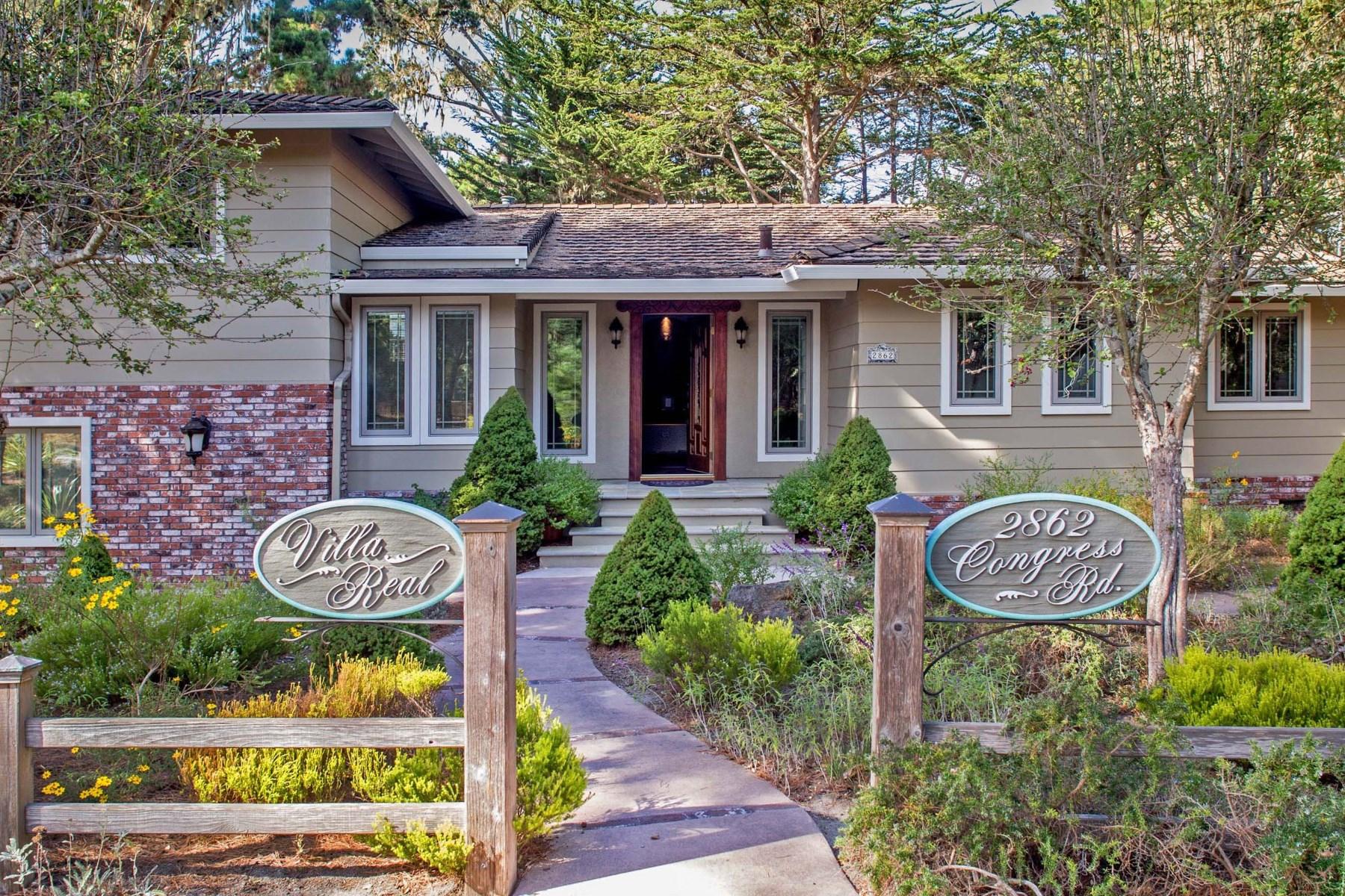 Casa Unifamiliar por un Venta en 2862 Congress Road, Pebble Beach Pebble Beach, California, 93953 Estados Unidos