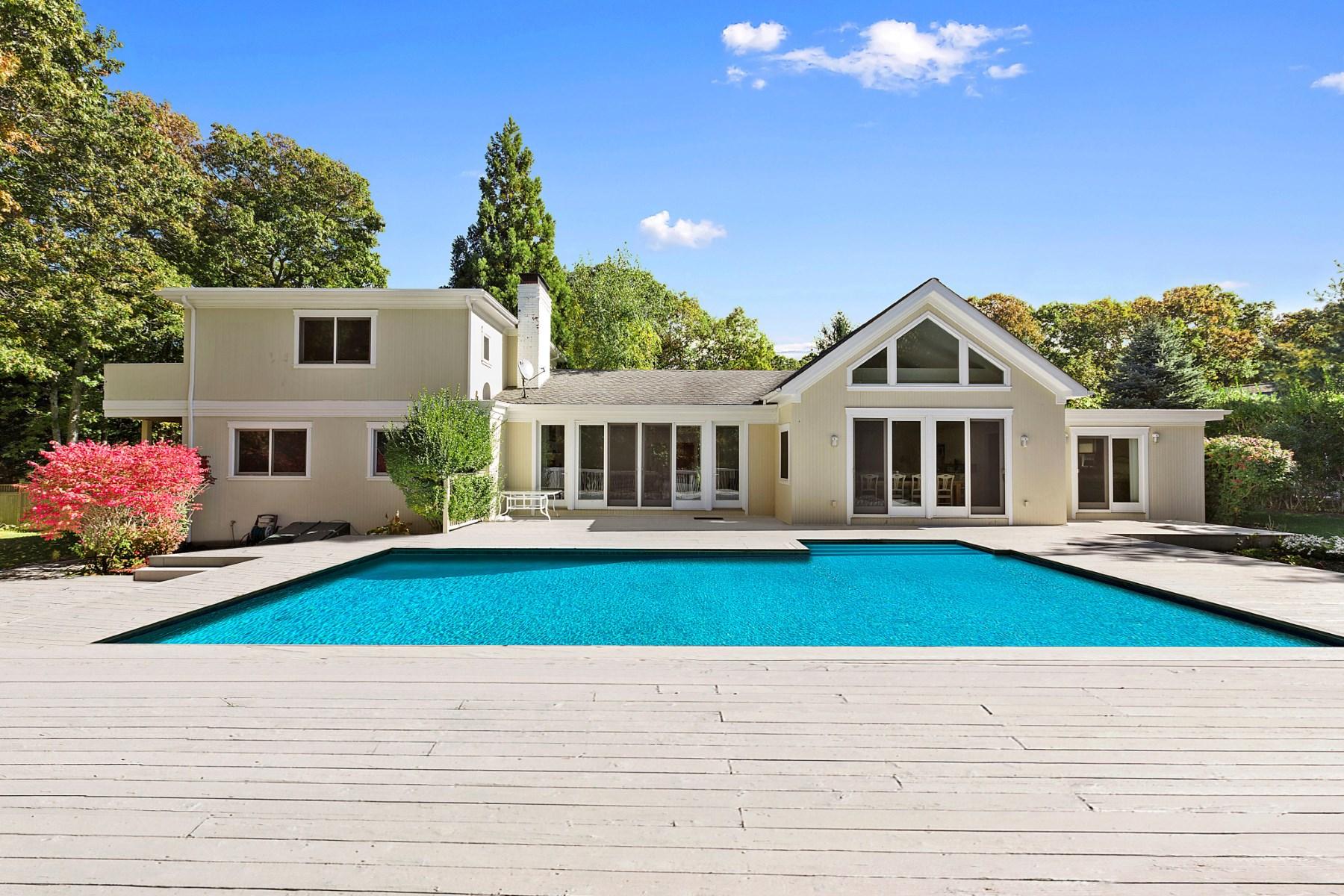 Maison unifamiliale pour l Vente à East Hampton Contemporary with Bay Views 15 Semaphore East Hampton, New York 11937 États-Unis