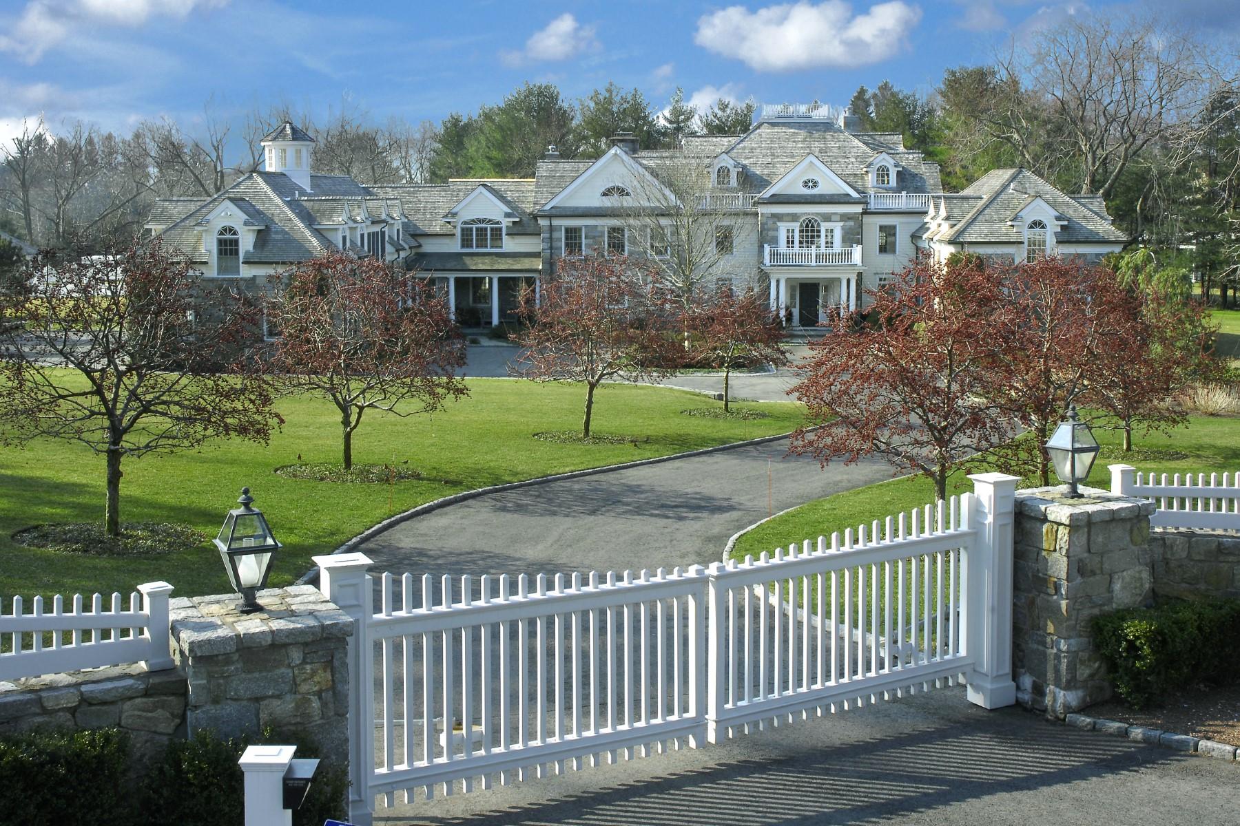 Einfamilienhaus für Verkauf beim Extraordinary Country Estate 808 North Street Greenwich, Connecticut 06831 Vereinigte Staaten
