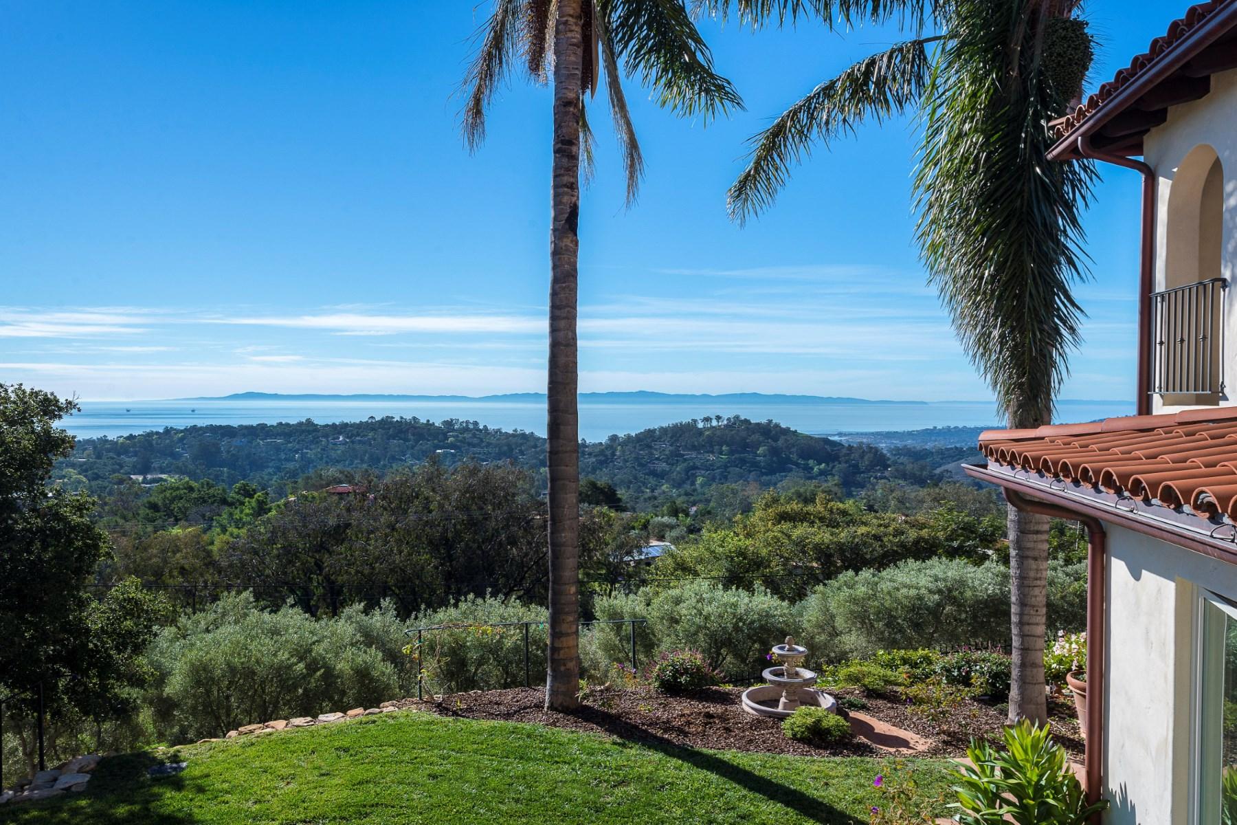 Single Family Home for Sale at Montecito Ocean View Paradise 298 East Mountain Drive Montecito - Upper Village, Santa Barbara, California 93108 United States