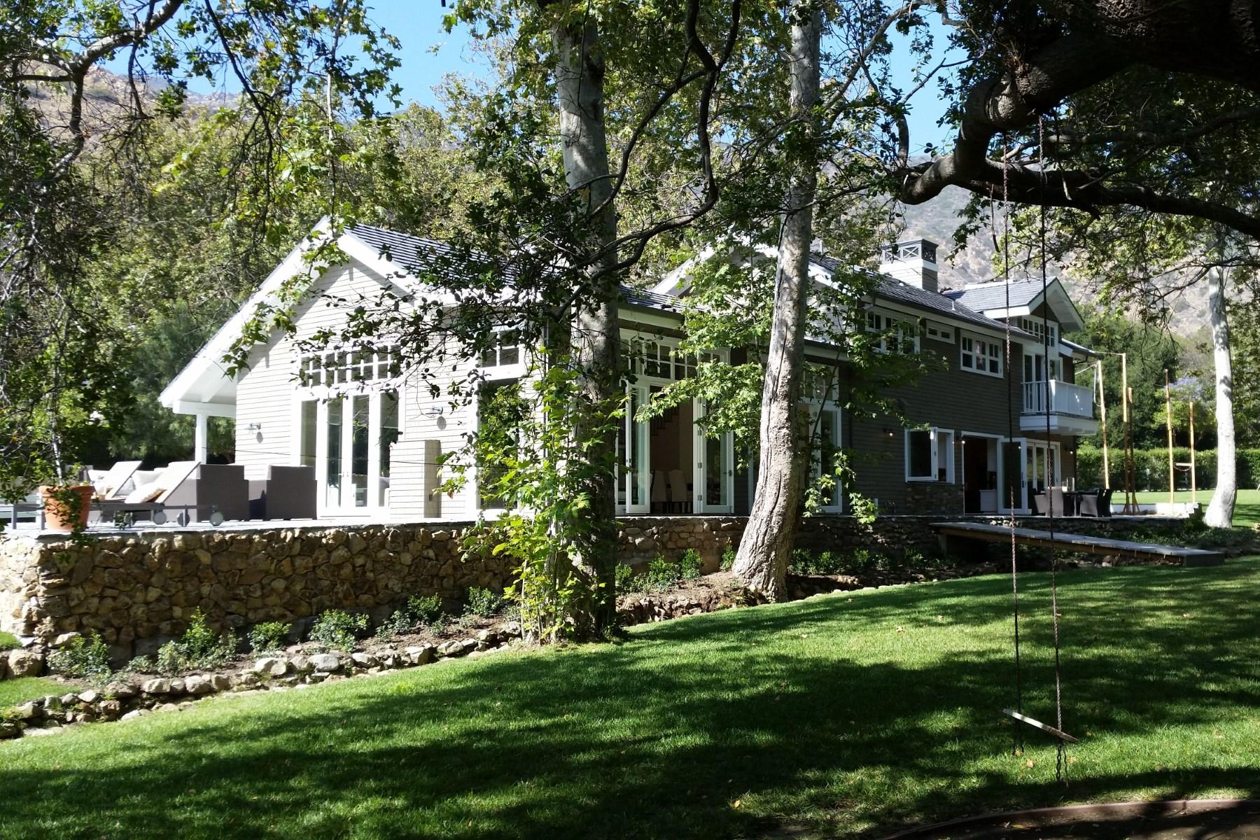 """独户住宅 为 销售 在 Malibu """"Serra Retreat"""" 23344 Palm Canyon Lane Malibu, 加利福尼亚州 90265 美国"""