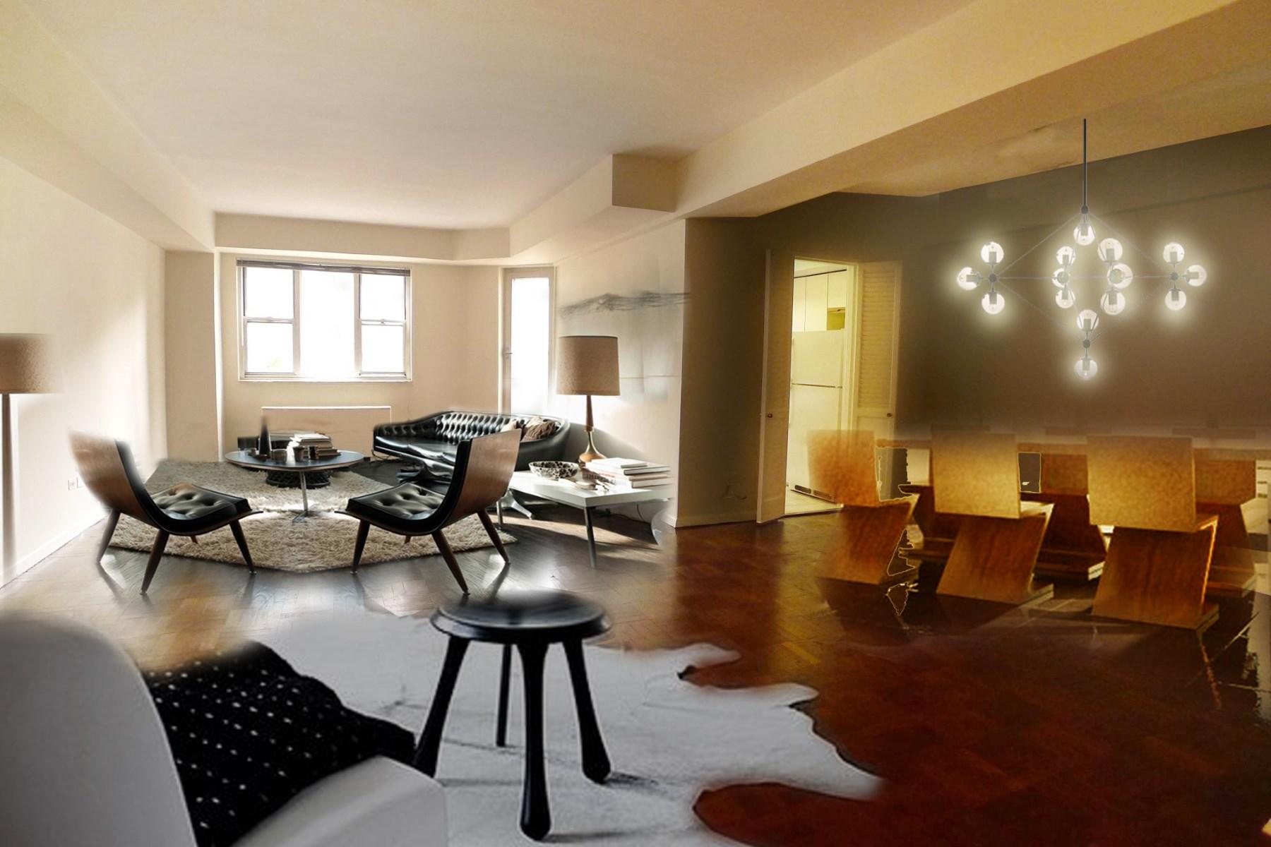 Кооперативная квартира для того Продажа на Midtown High Floor with Terrace 100 West 57th Street Apt 19e New York, Нью-Йорк 10019 Соединенные Штаты