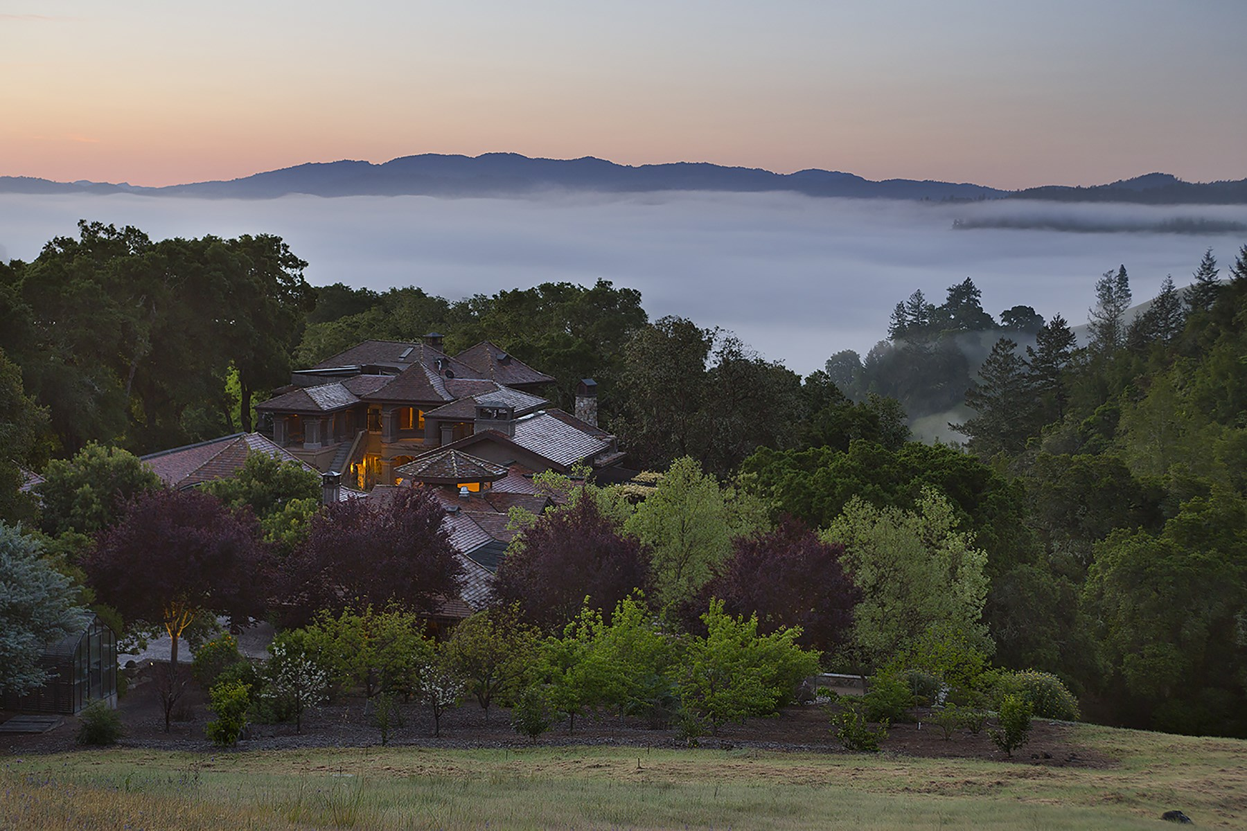 Single Family Home for Sale at California Estate with a European Soul Calistoga, California 94515 United States
