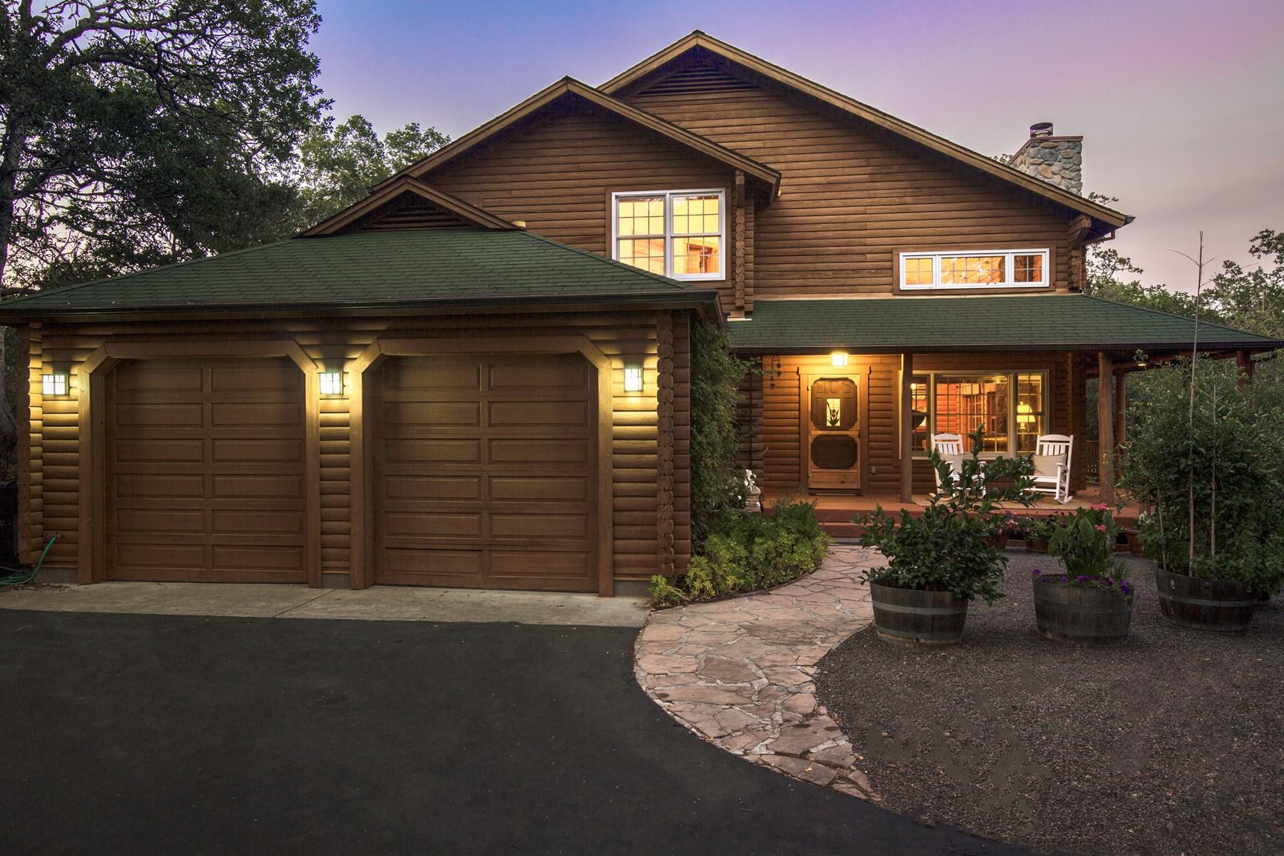 Tek Ailelik Ev için Satış at Secluded In-Town Glen Ellen Charmer 1263 Chauvet Rd Glen Ellen, Kaliforniya, 95442 Amerika Birleşik Devletleri