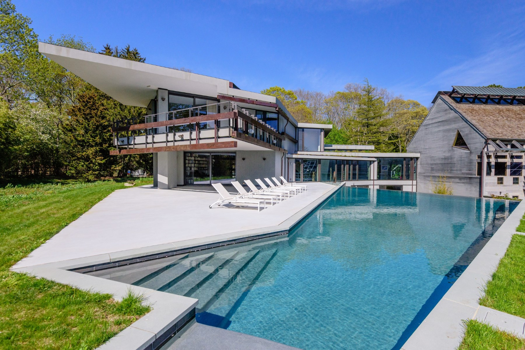 Single Family Home for Sale at Modern Masterpiece, Park-Like Setting Wainscott, New York, 11975 United States