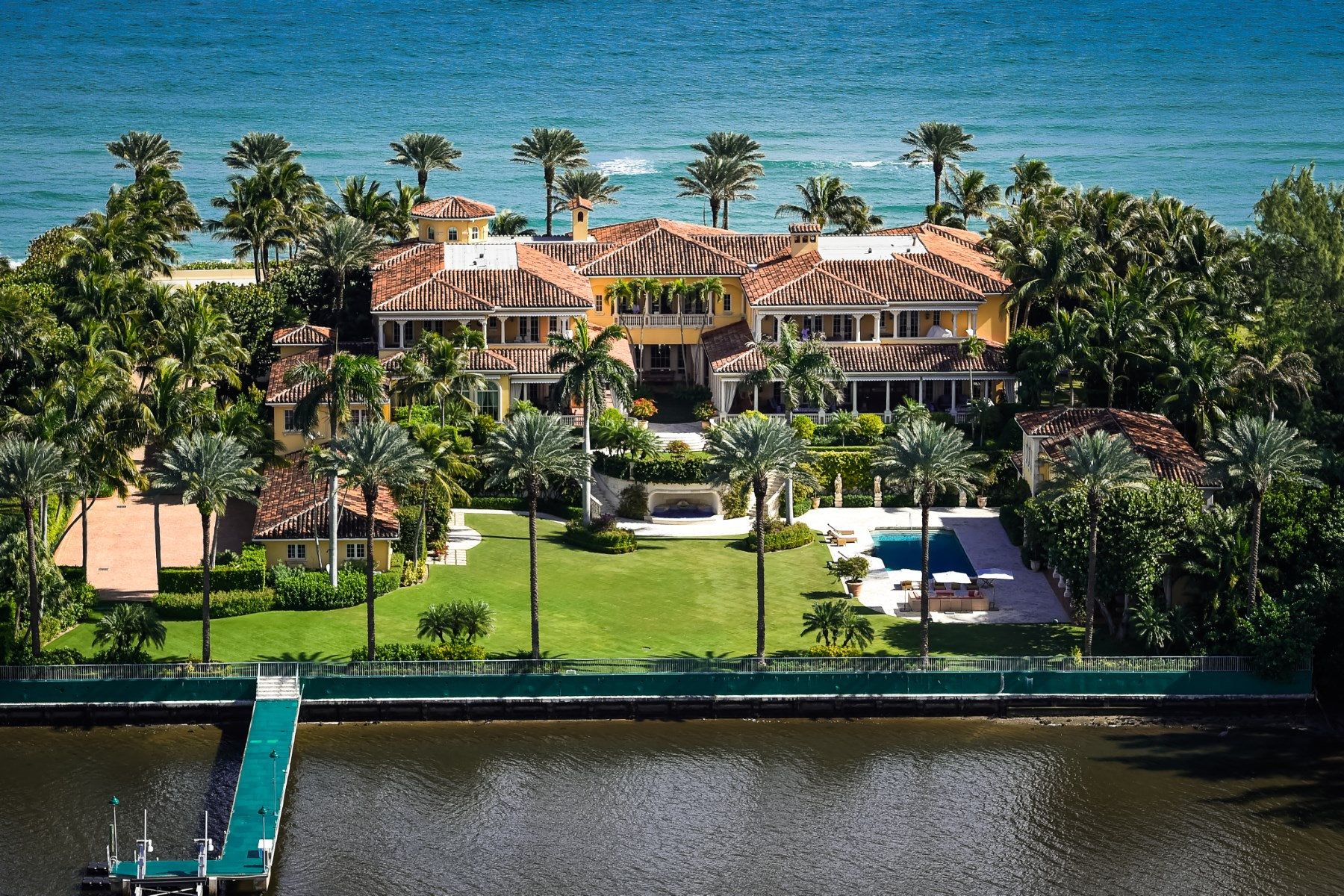 Single Family Home for Sale at Magnificent Mediterranean Estate Section, Palm Beach, Florida 33480 United States