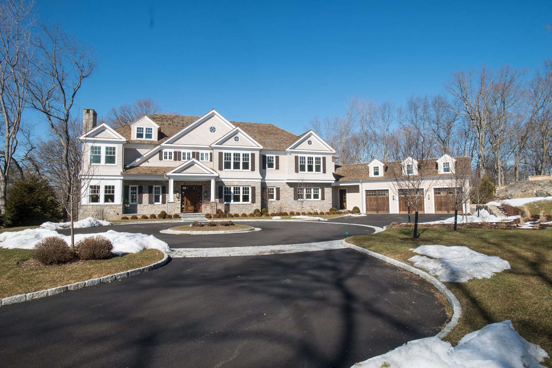 Single Family Home for Sale at A New Classic for Modern Living 289 Stanwich Road Greenwich, Connecticut 06830 United States