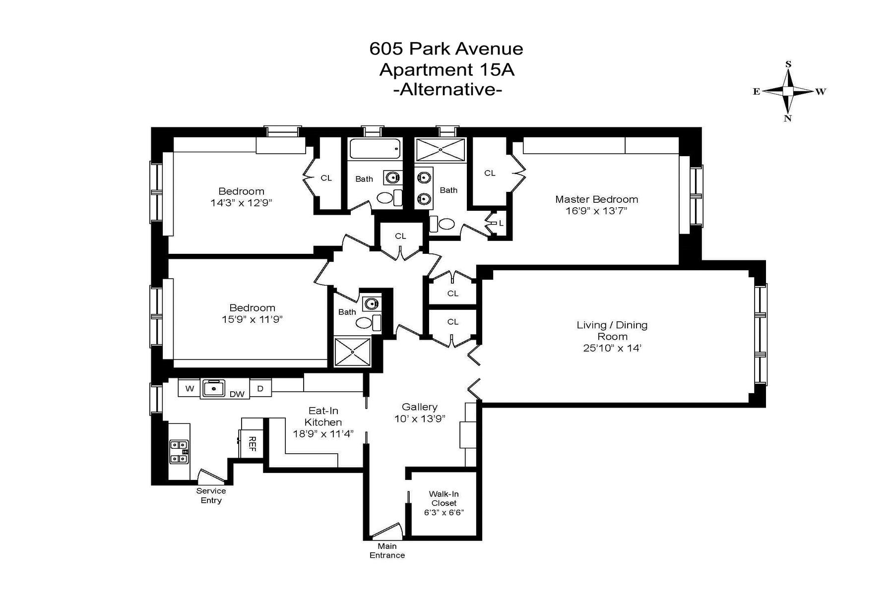 Additional photo for property listing at 605 Park Avenue Apt 15A 605 Park Avenue Apt 15A New York, New York 10065 United States