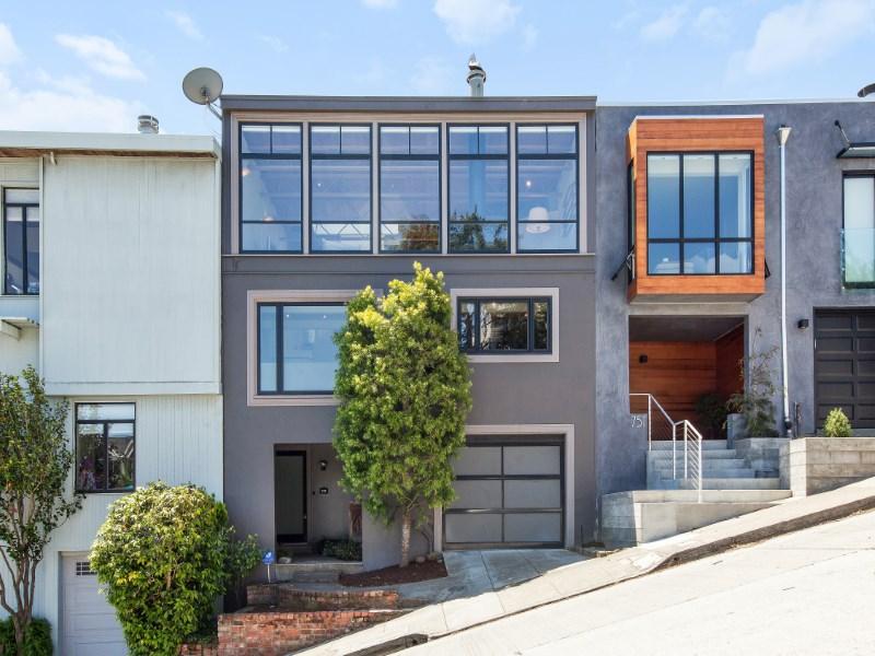 Casa para uma família para Venda às Contemporary Noe Valley View Home 747 Duncan St Noe Valley, San Francisco, Califórnia 94131 Estados Unidos