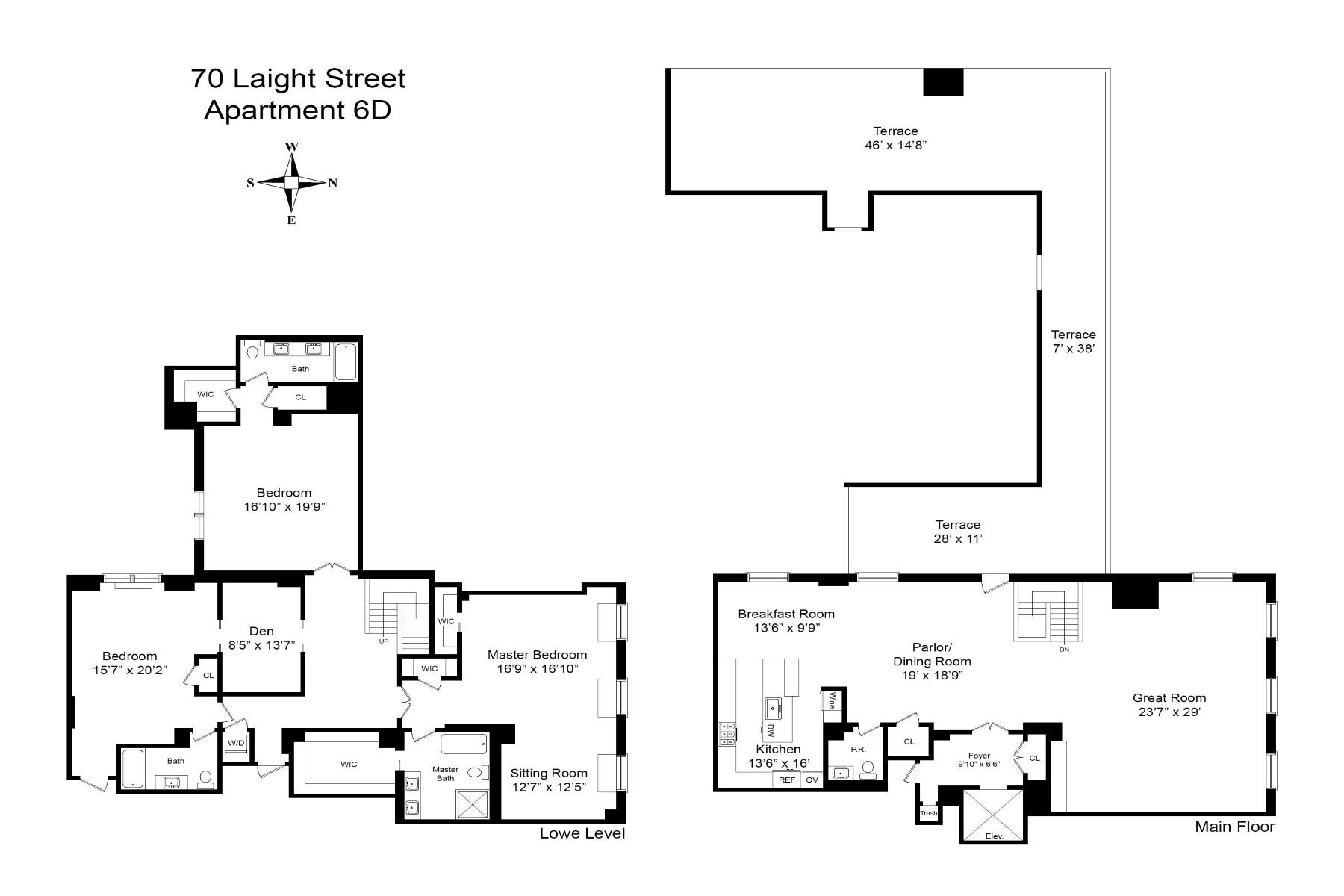Condominium for Sale at Corner PH Duplex Loft w/ Outdoor Space 79 Laight Street Apt 6D New York, New York 10013 United States
